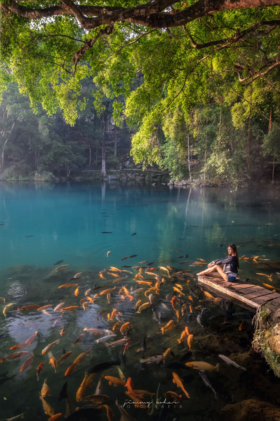 Blue Lagoon of Situ Cicerem, Indonesia