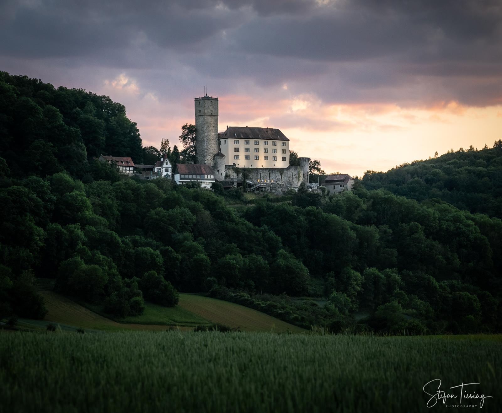 Burg Guttenberg, long distance view, Germany