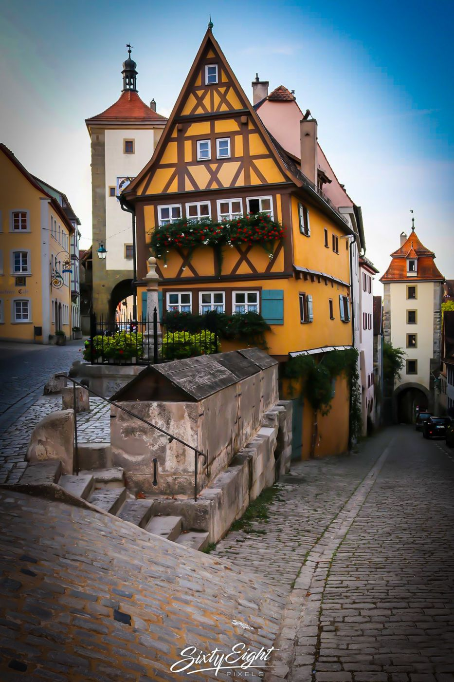 Das 'Plönlein' in Rothenburg ob der Tauber, Germany