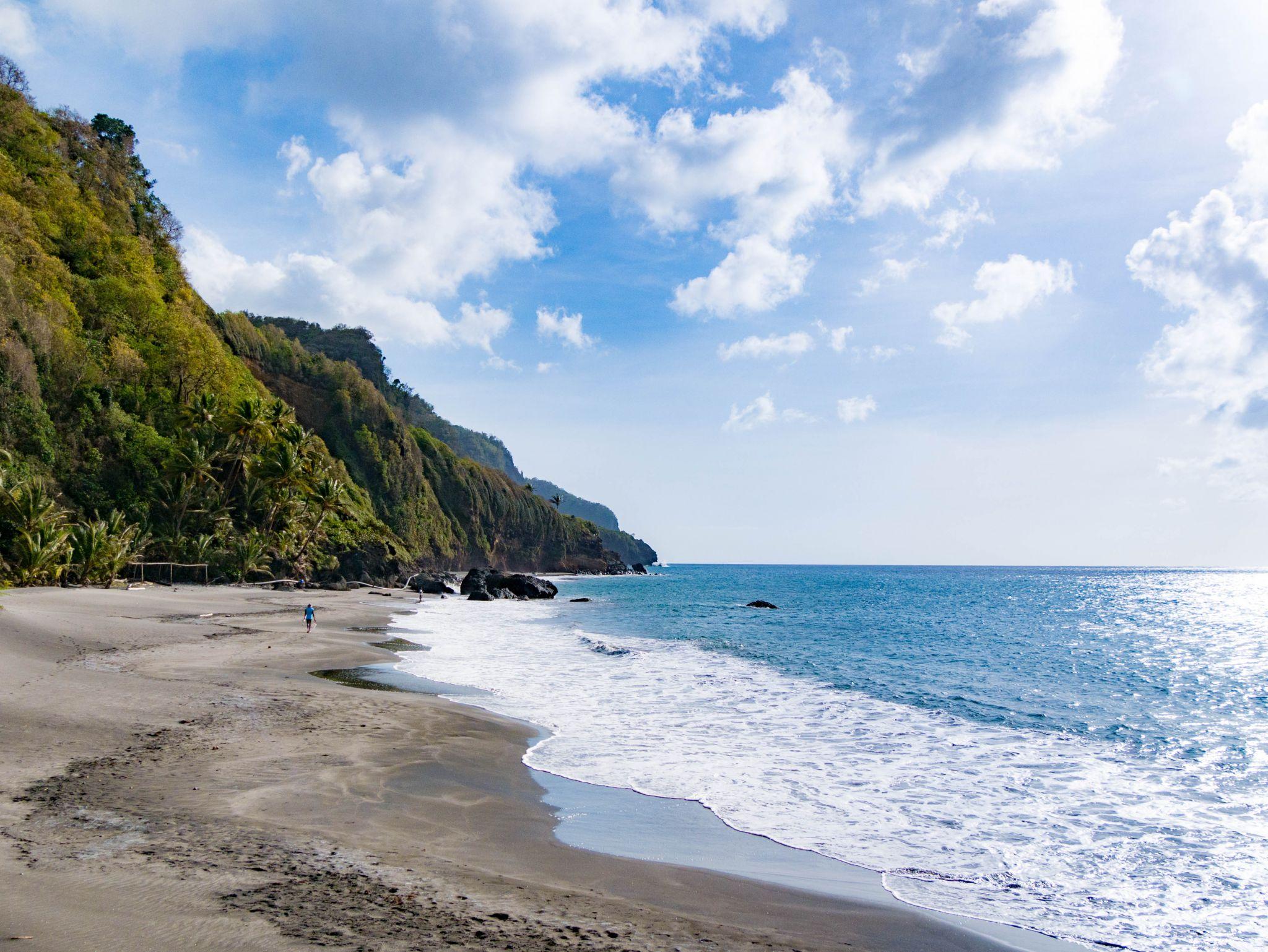 Grand Rivière's beach, Martinique