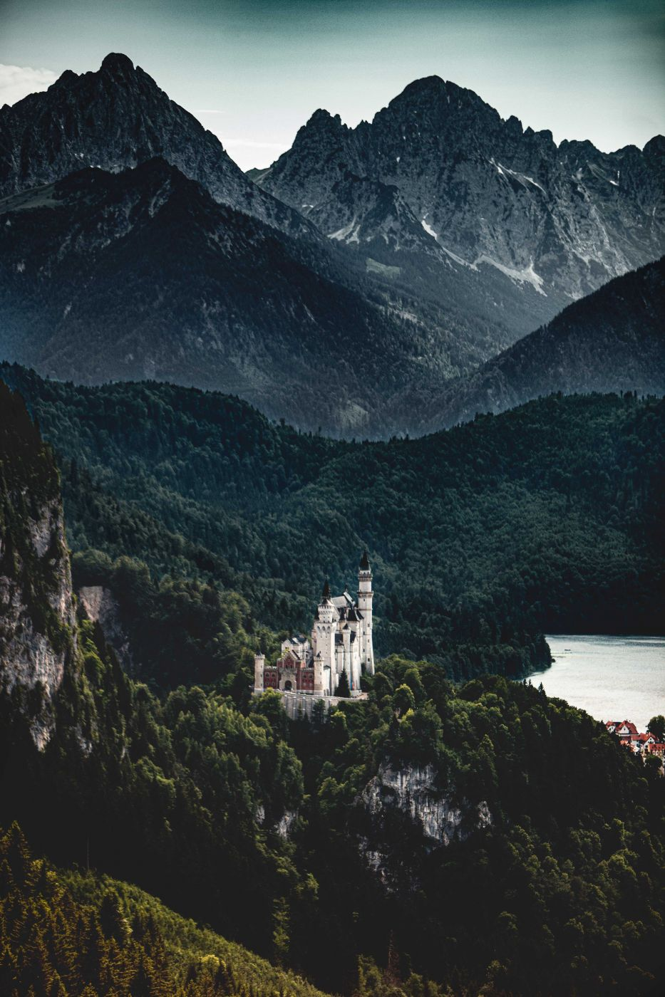Great view of Neuschwanstein, Germany