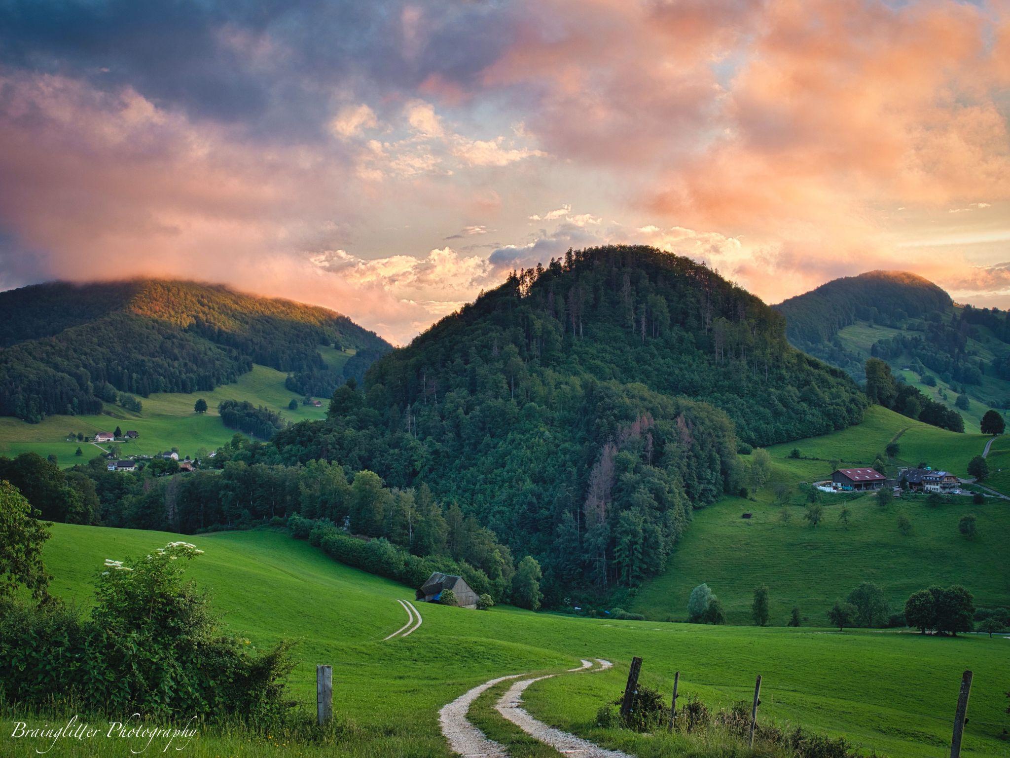 Hills around Langenbruck, Switzerland
