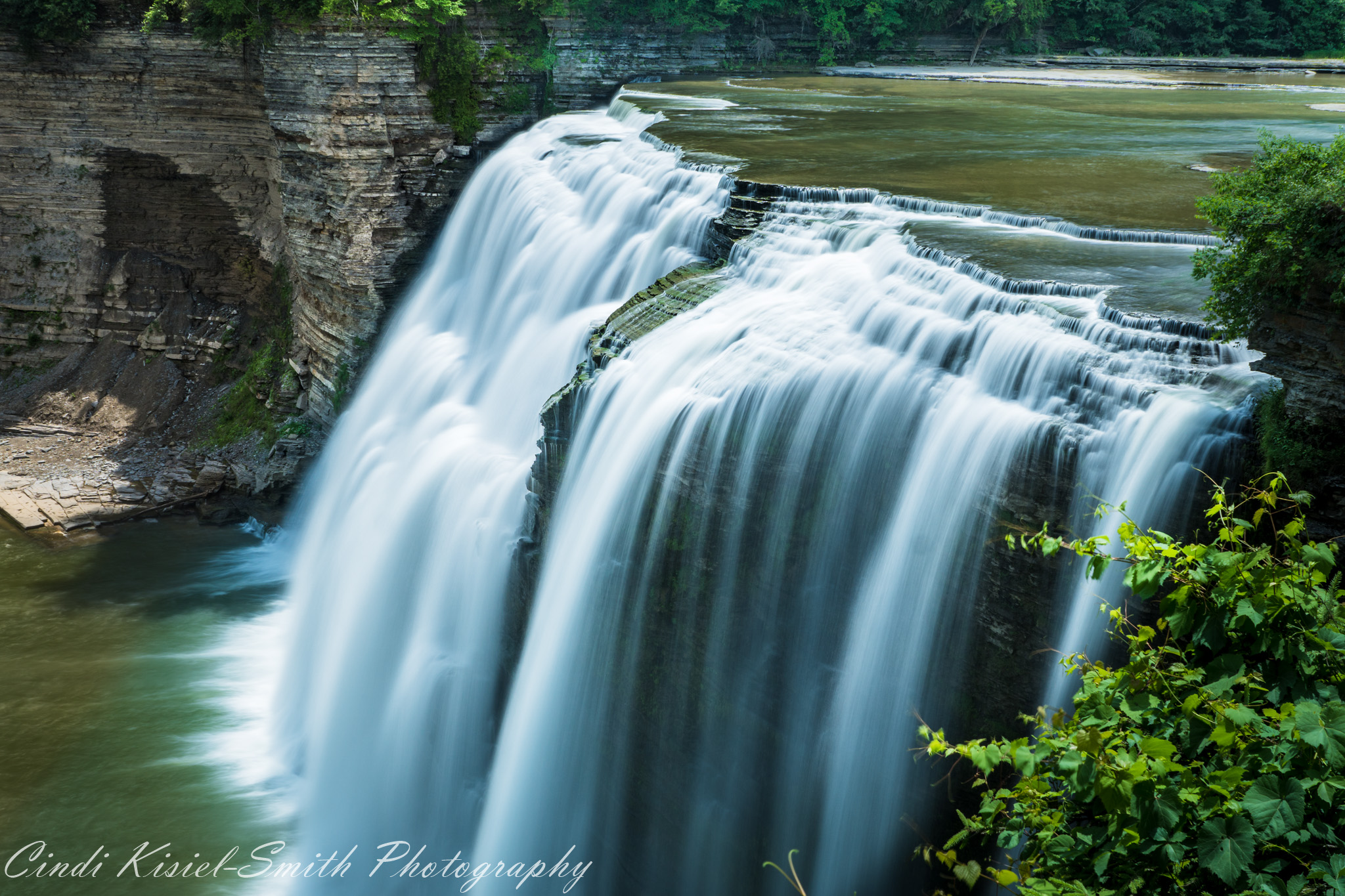 Letchworth State Park Middle Falls with Face, USA