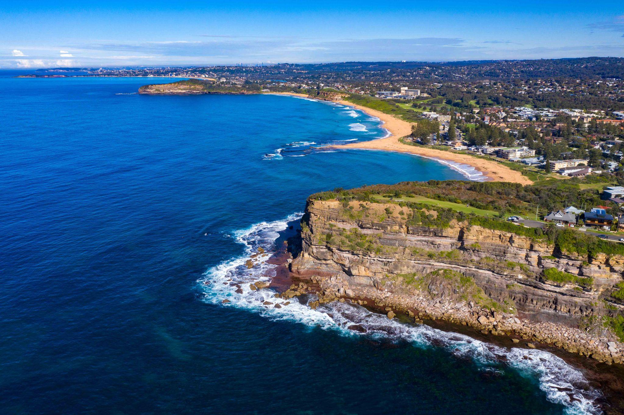 Mona Vale headland looking south New South Wales, Australia