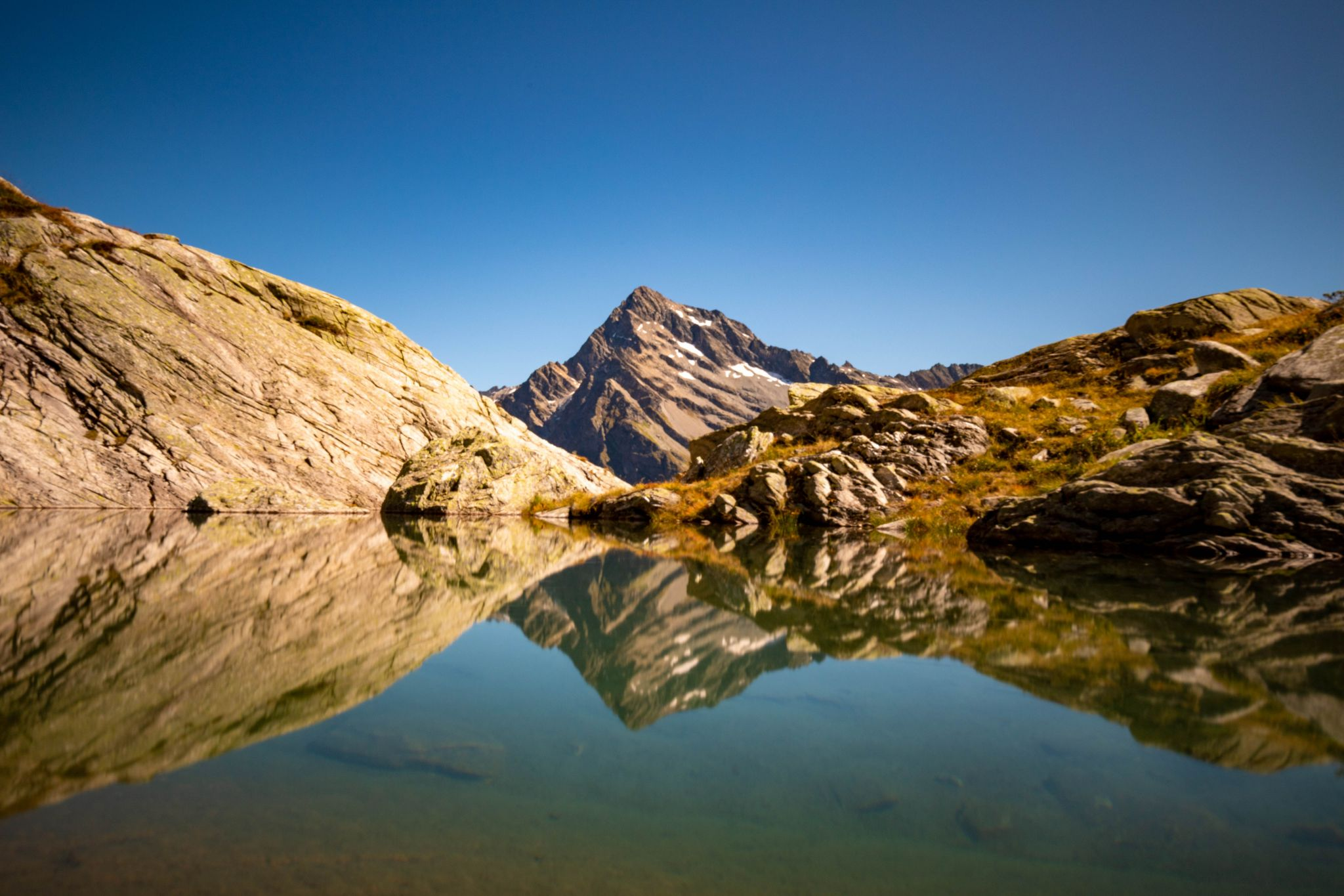 Mountain lake near the Windgällenhütte, Switzerland