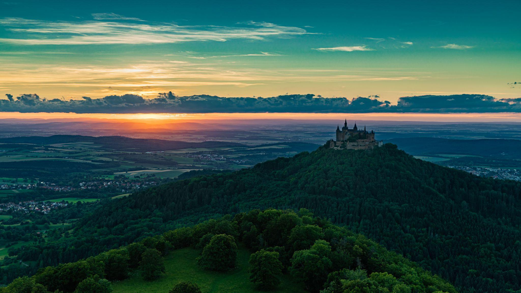 Sunset - view from Zeller Horn, Germany