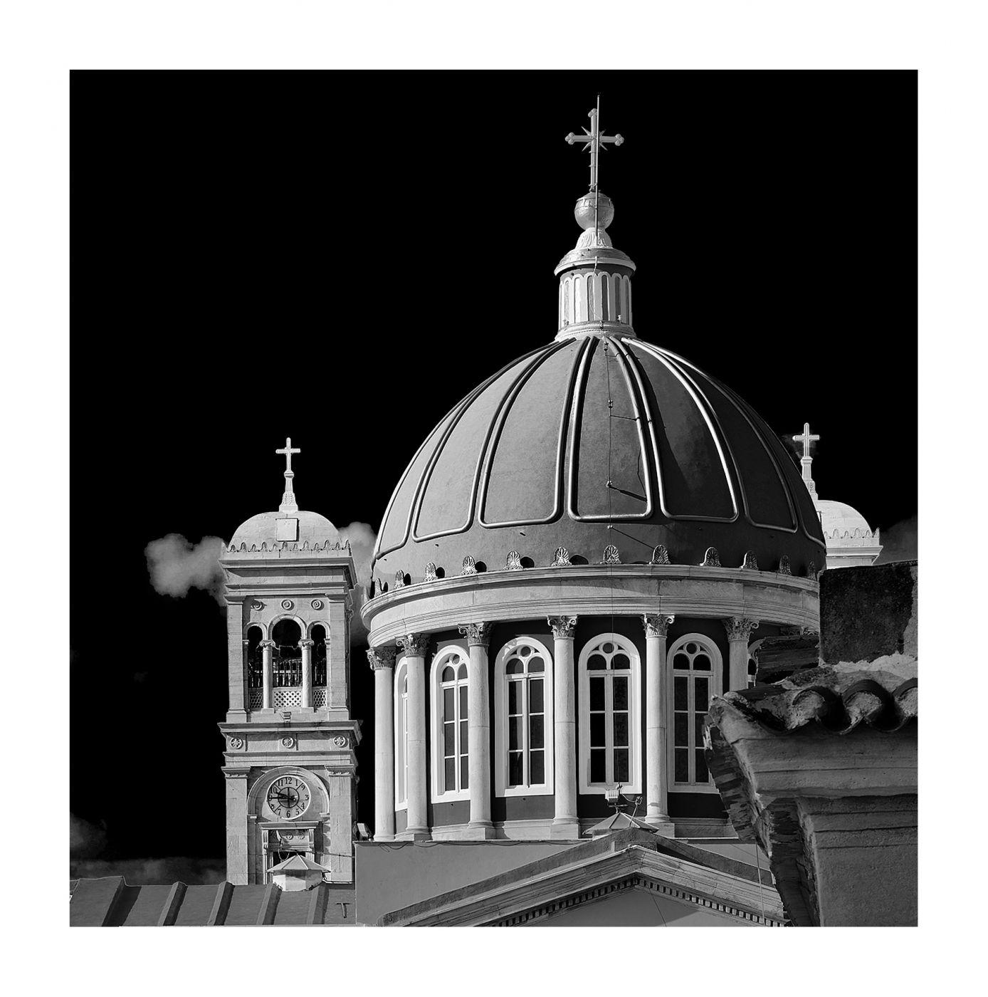 The Dome of Saint Nicholas Church, Syros, Greece