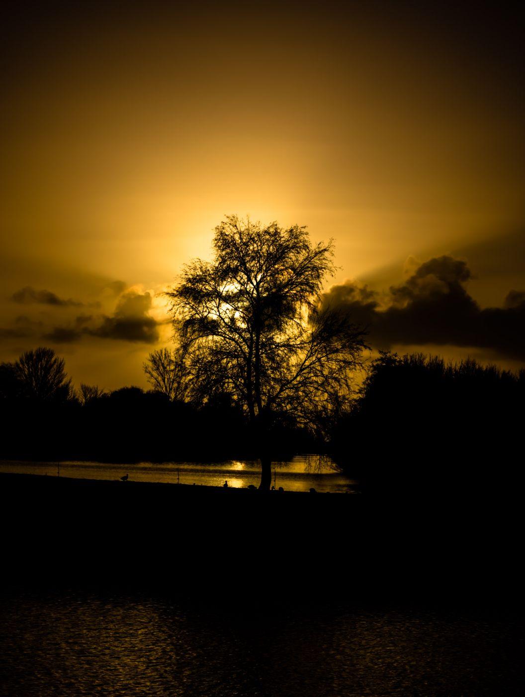 Vecht sunset, Netherlands
