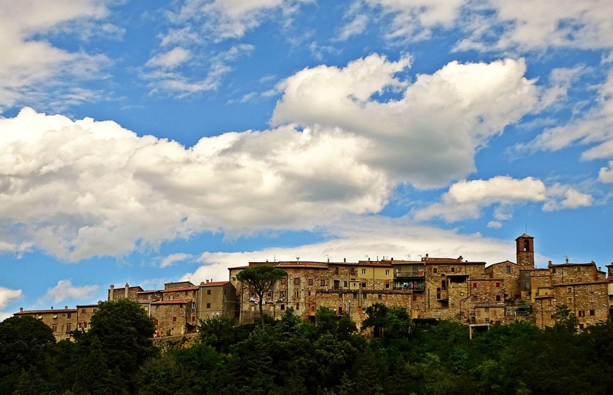 View over Sassa, Tuscany, Italy