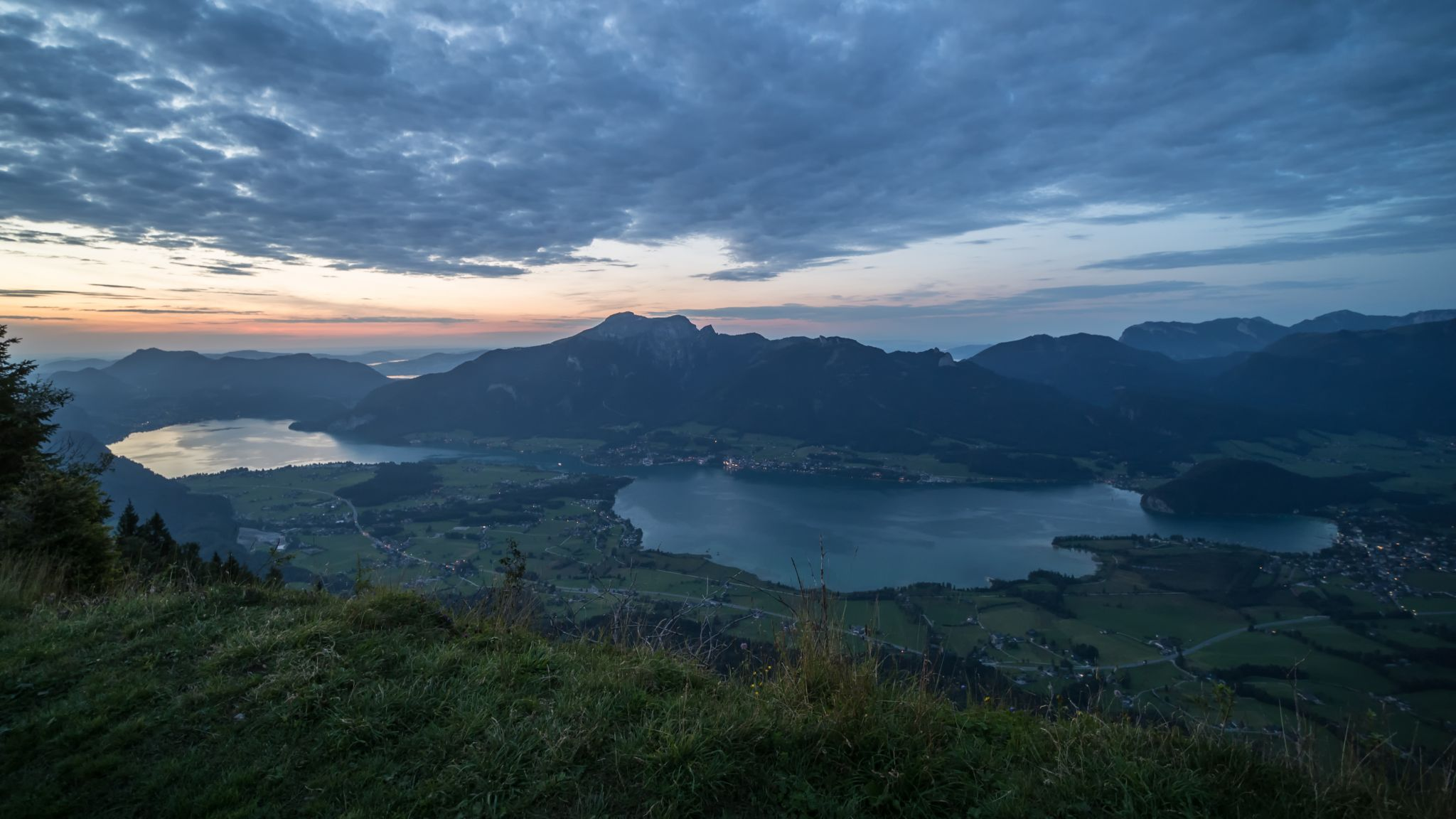 Wolfgangsee from Bleckwand, Austria