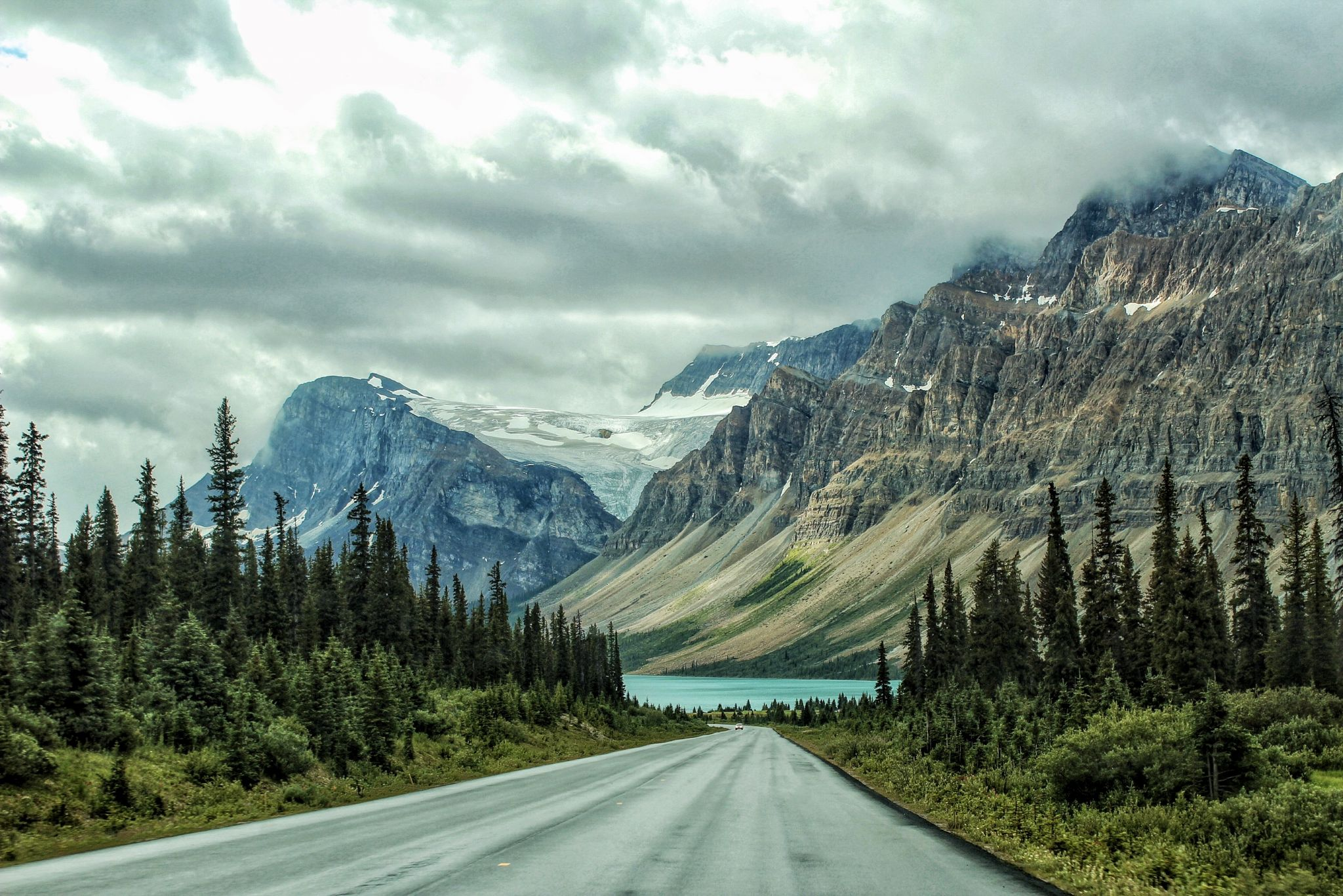 Approach to Bow Lake, Canada