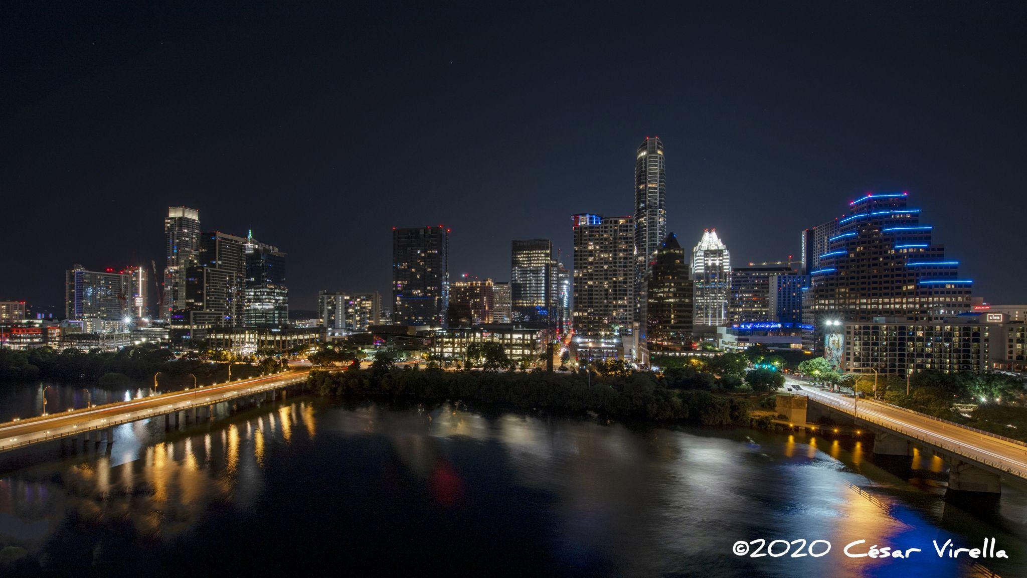 Austin Skyline from Hyatt Regency Hotel, USA