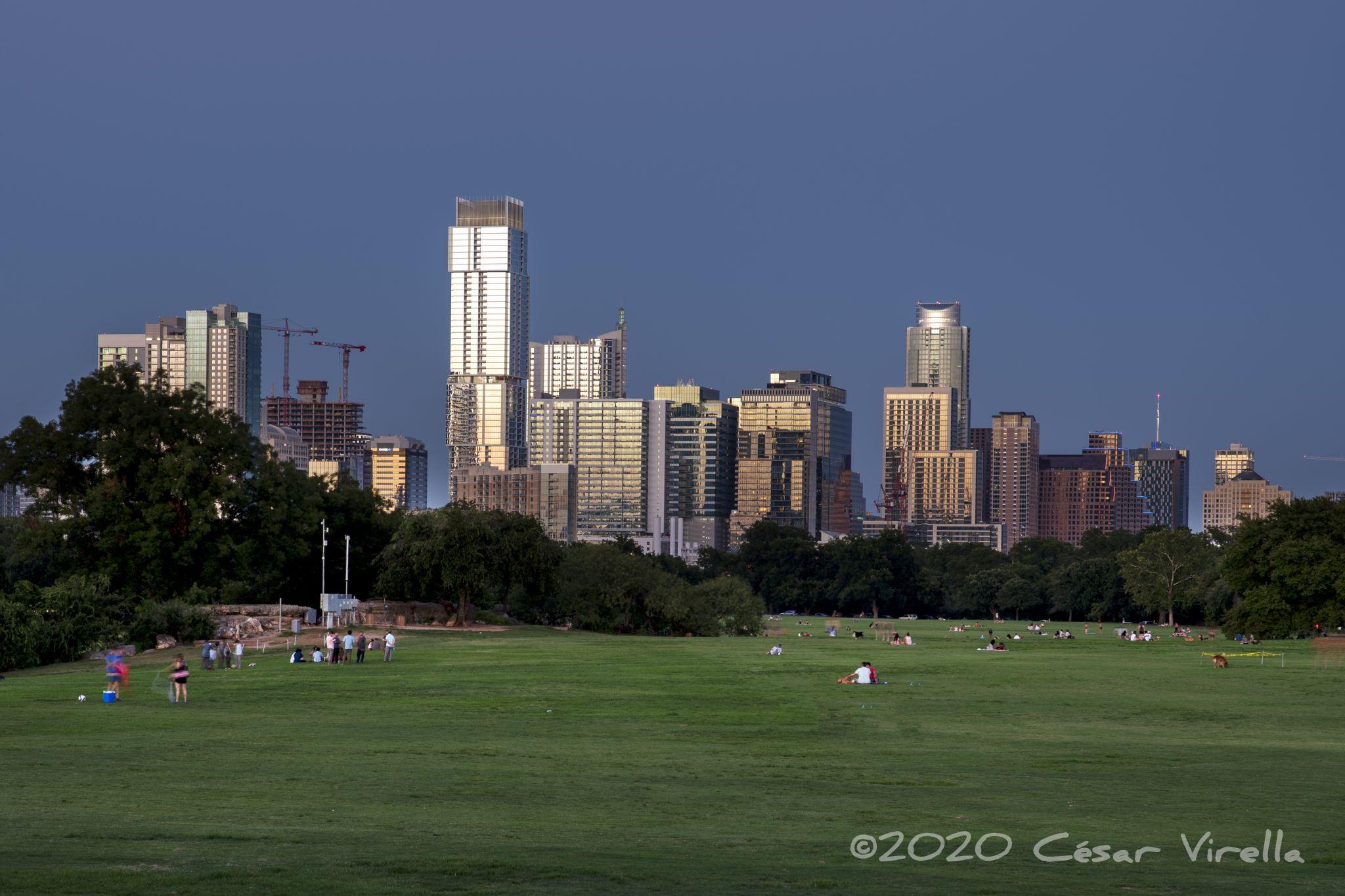 Austin Skyline from Zilker Park, USA