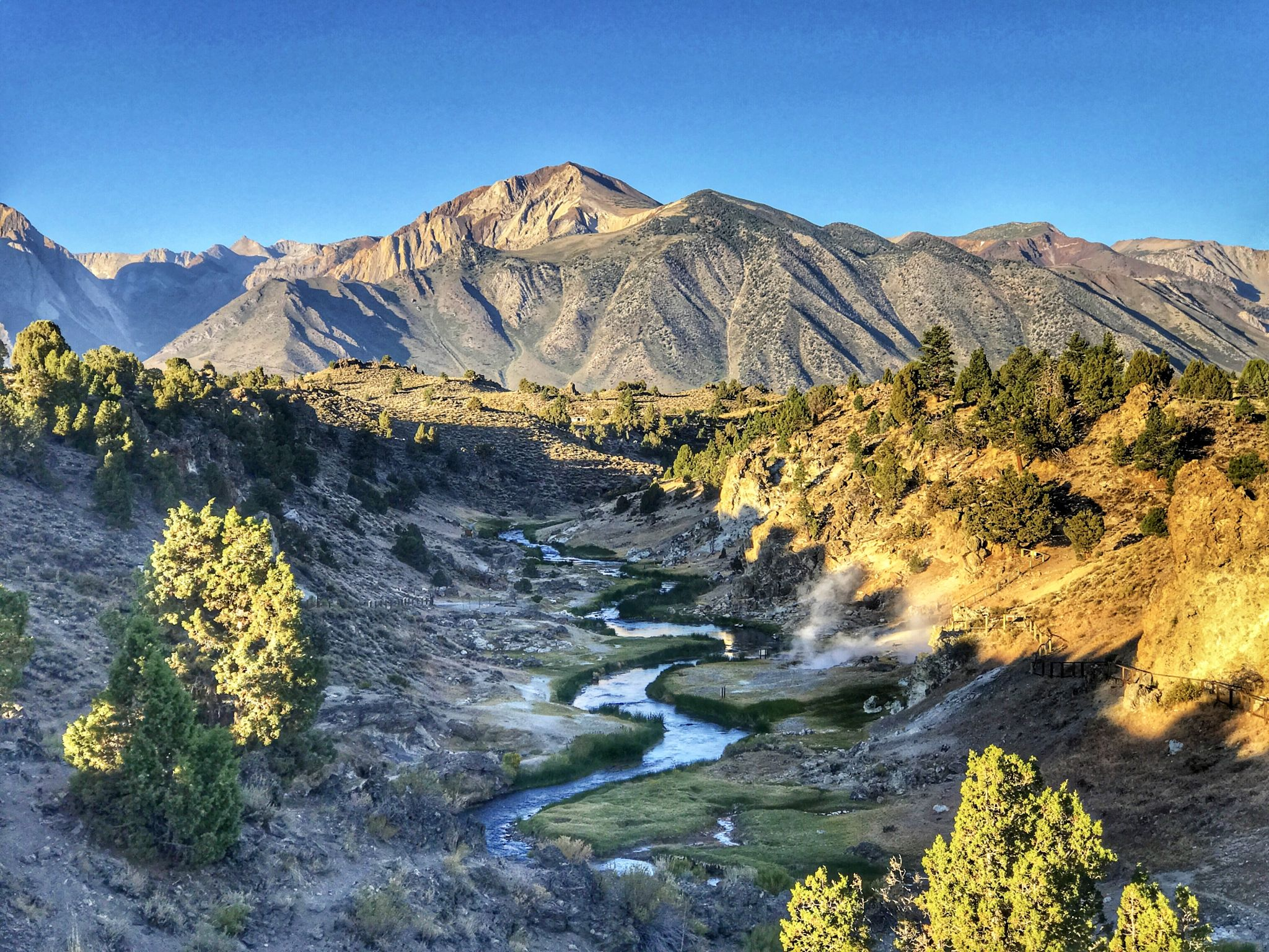 Hot Creek, Mammoth Lakes, CA, USA