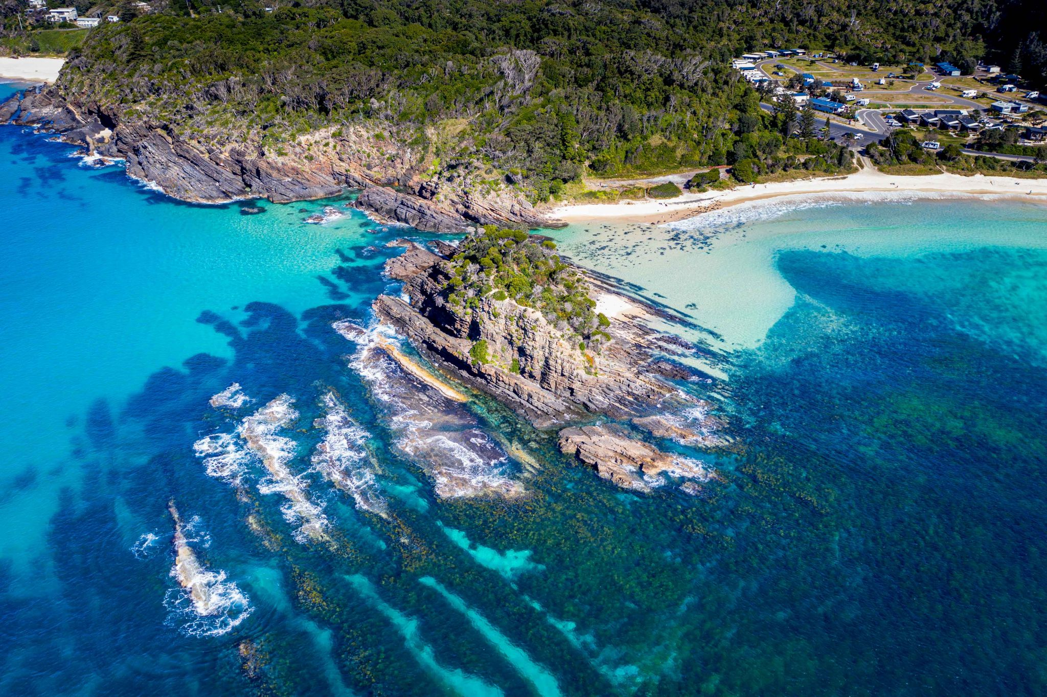 Island off Seal Rocks New South Wales, Australia