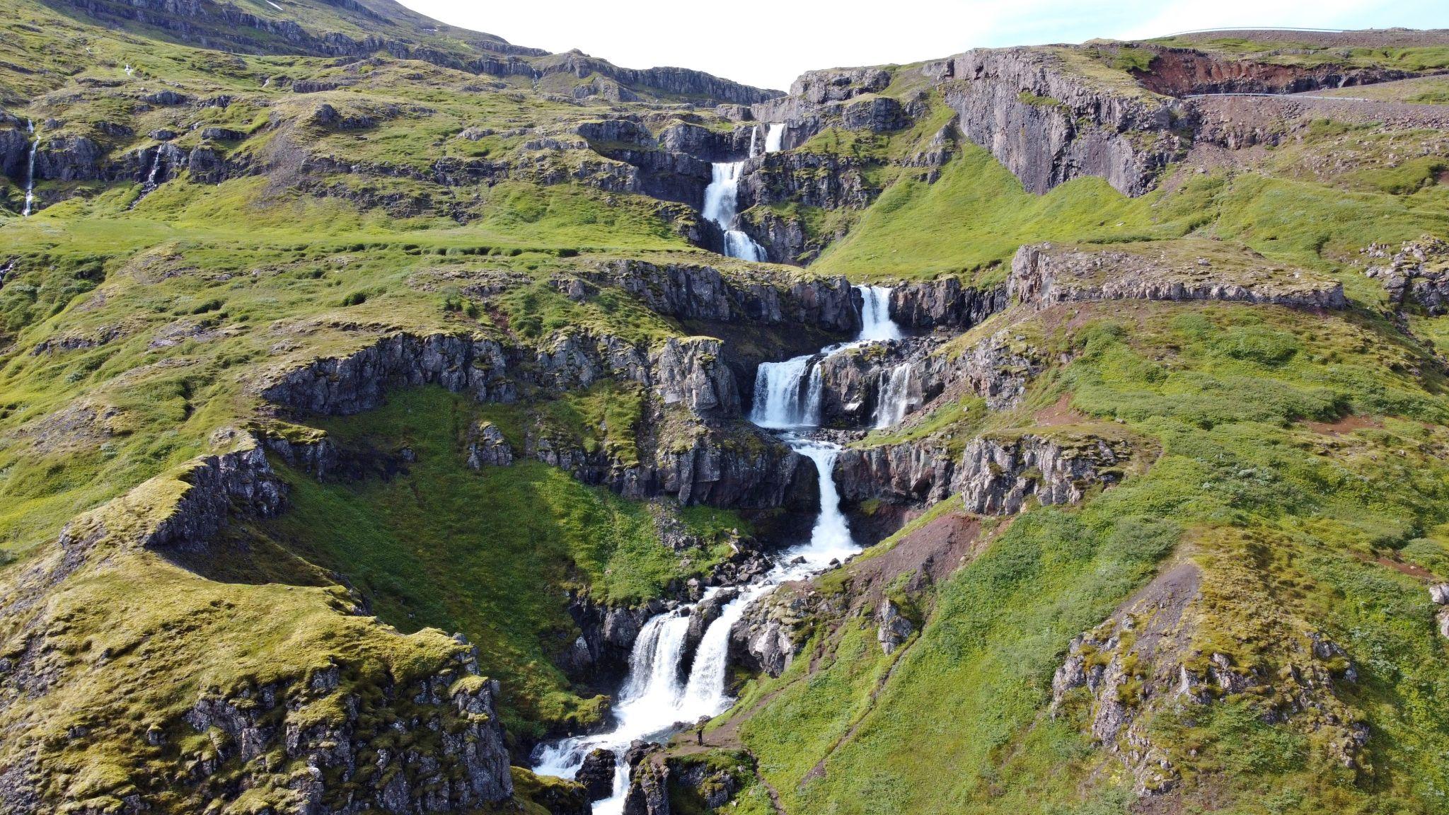 Klifbrekkufossar waterfalls, Iceland