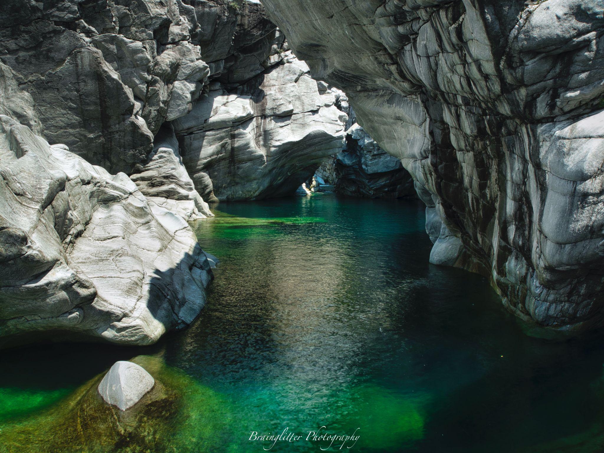 Maggia river near Locarno, Switzerland