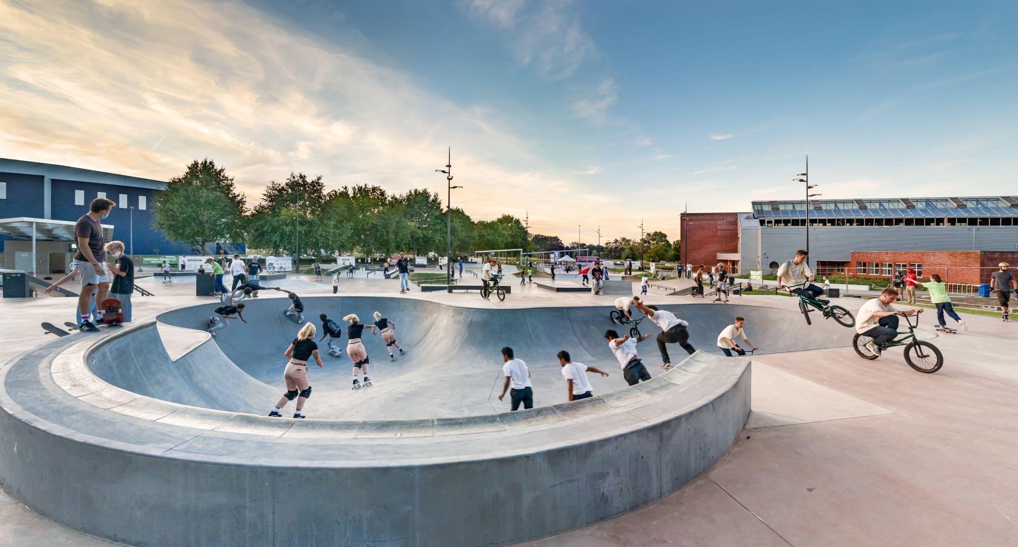 Skatepark Blaarmeersen, Ghent, Belgium, Belgium