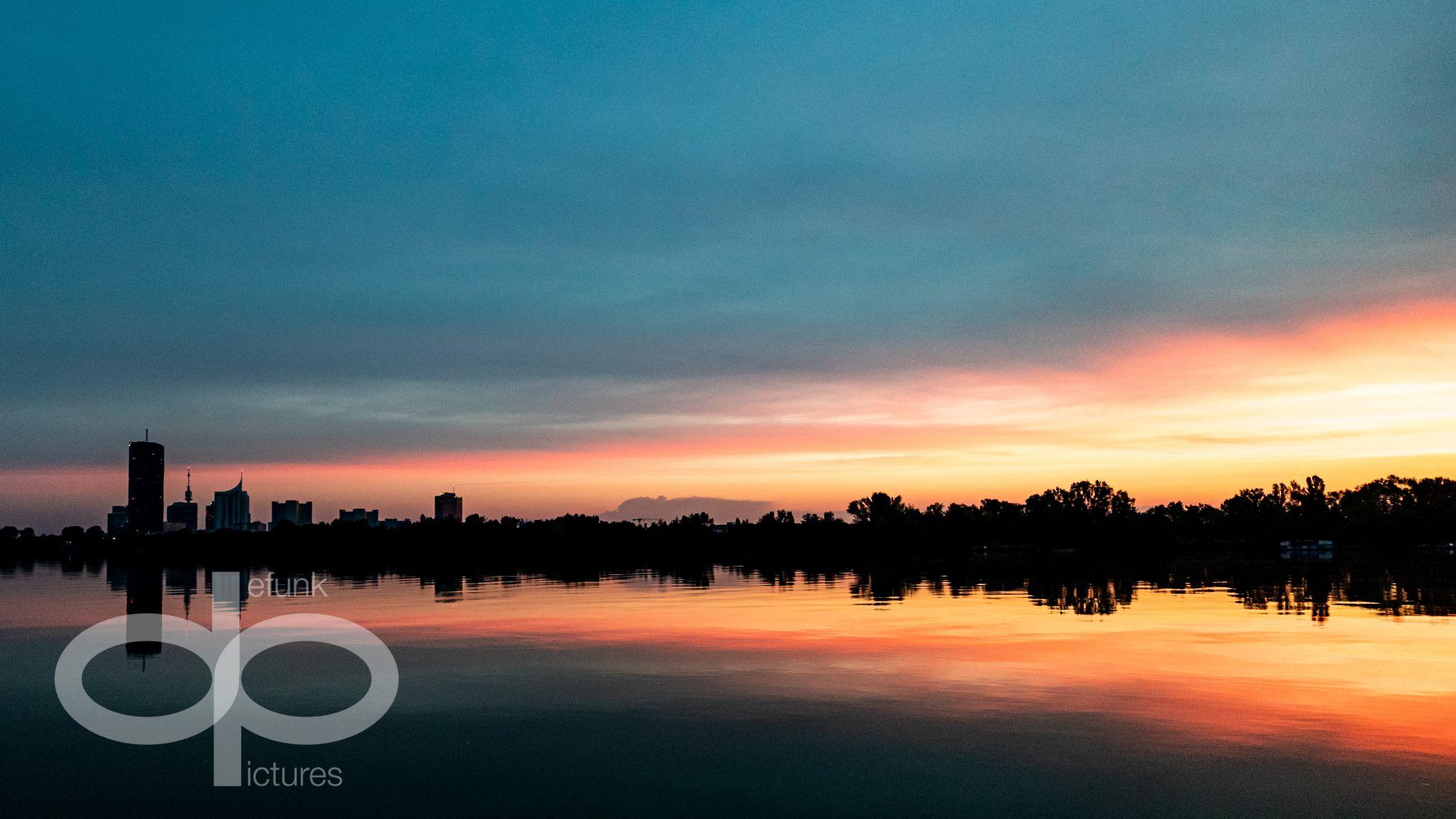 Sunrise from Hilton Vienna Danube Waterfront, Austria