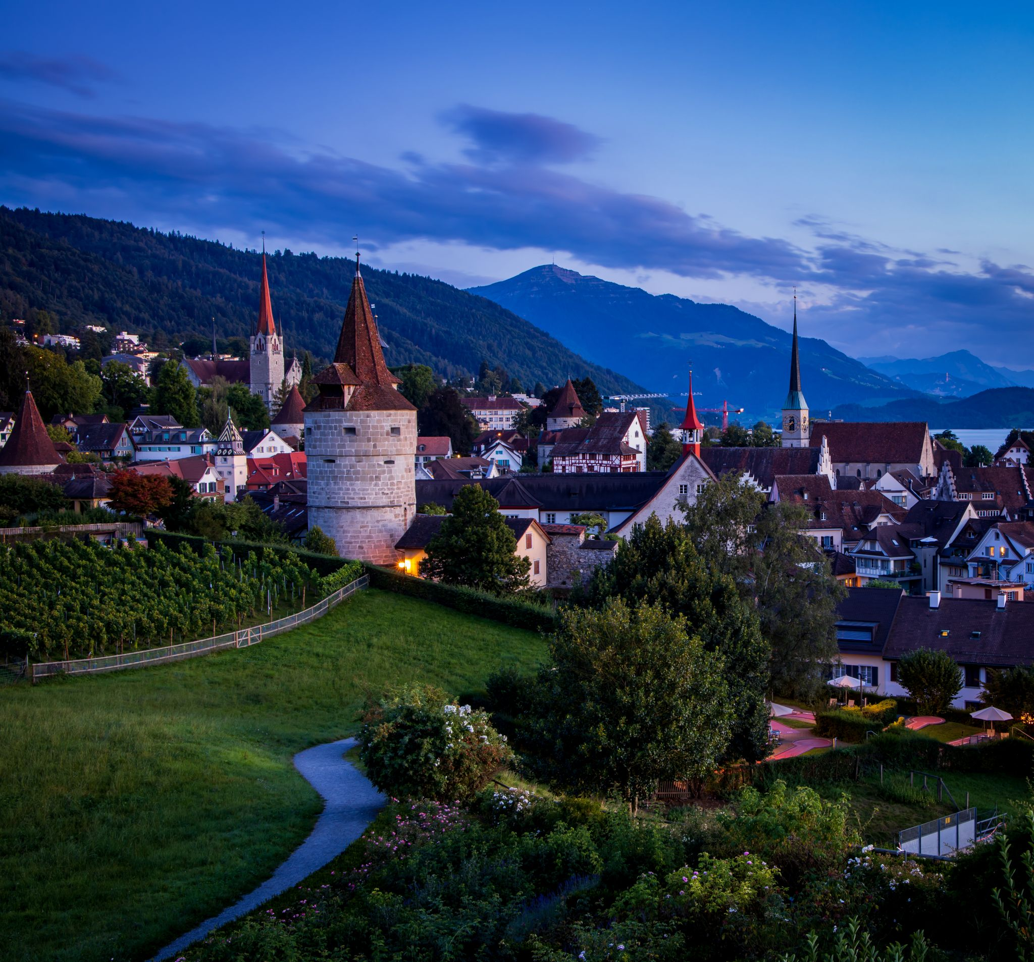 The Medieval town of Zug, Switzerland