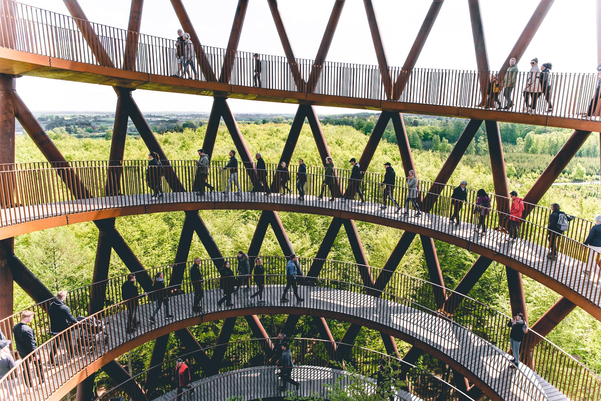 The Spiral walk, forest tower near Næstved, Denmark, Denmark
