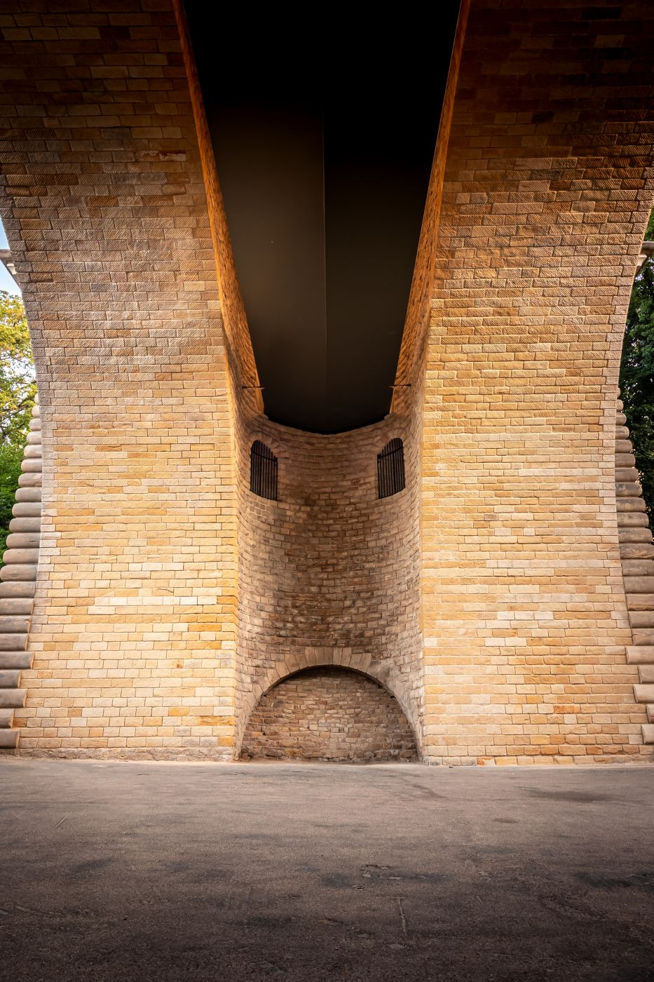 under the Pont Adolphe, Luxembourg