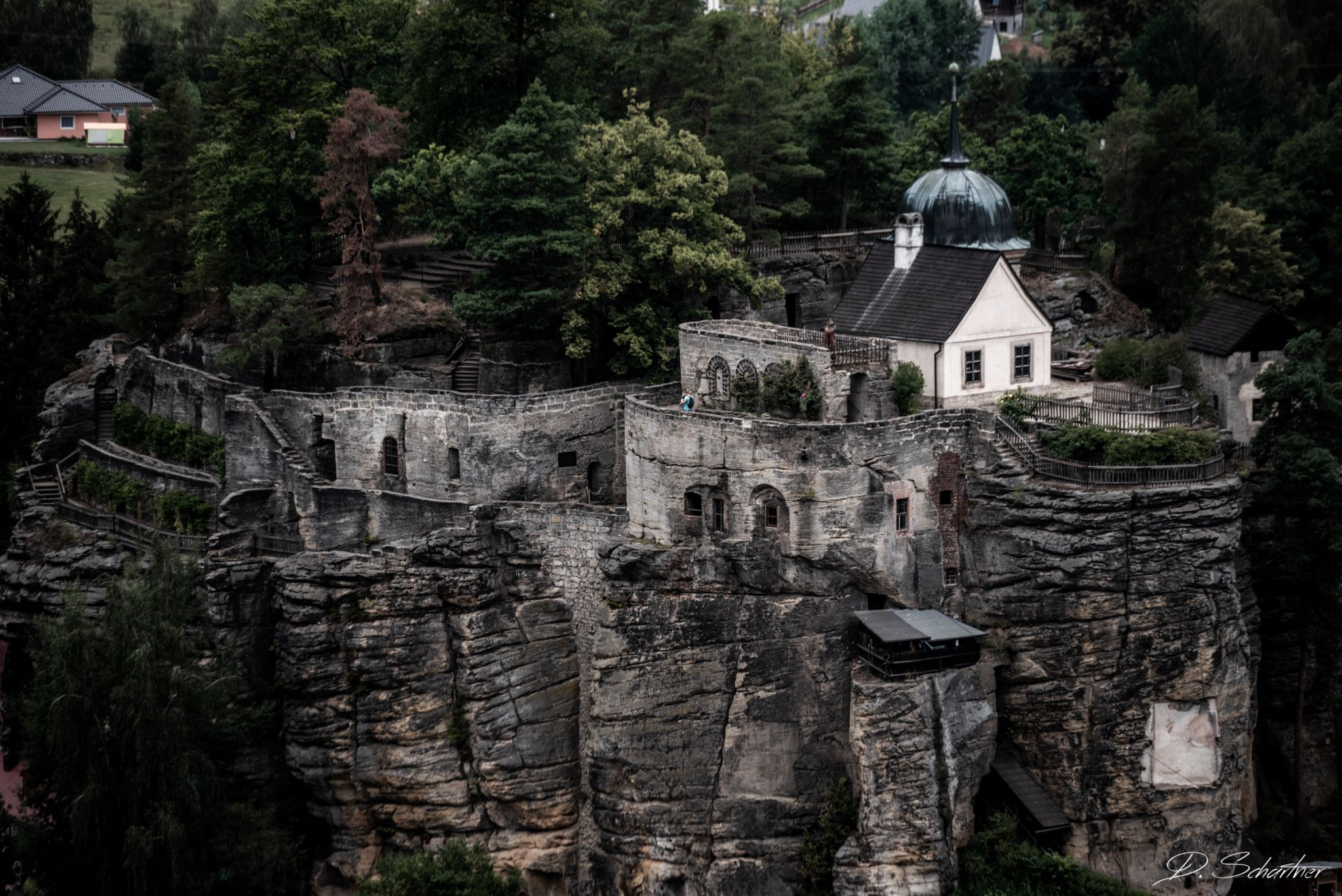 view on Hermit's Rock Castle, Czech Republic