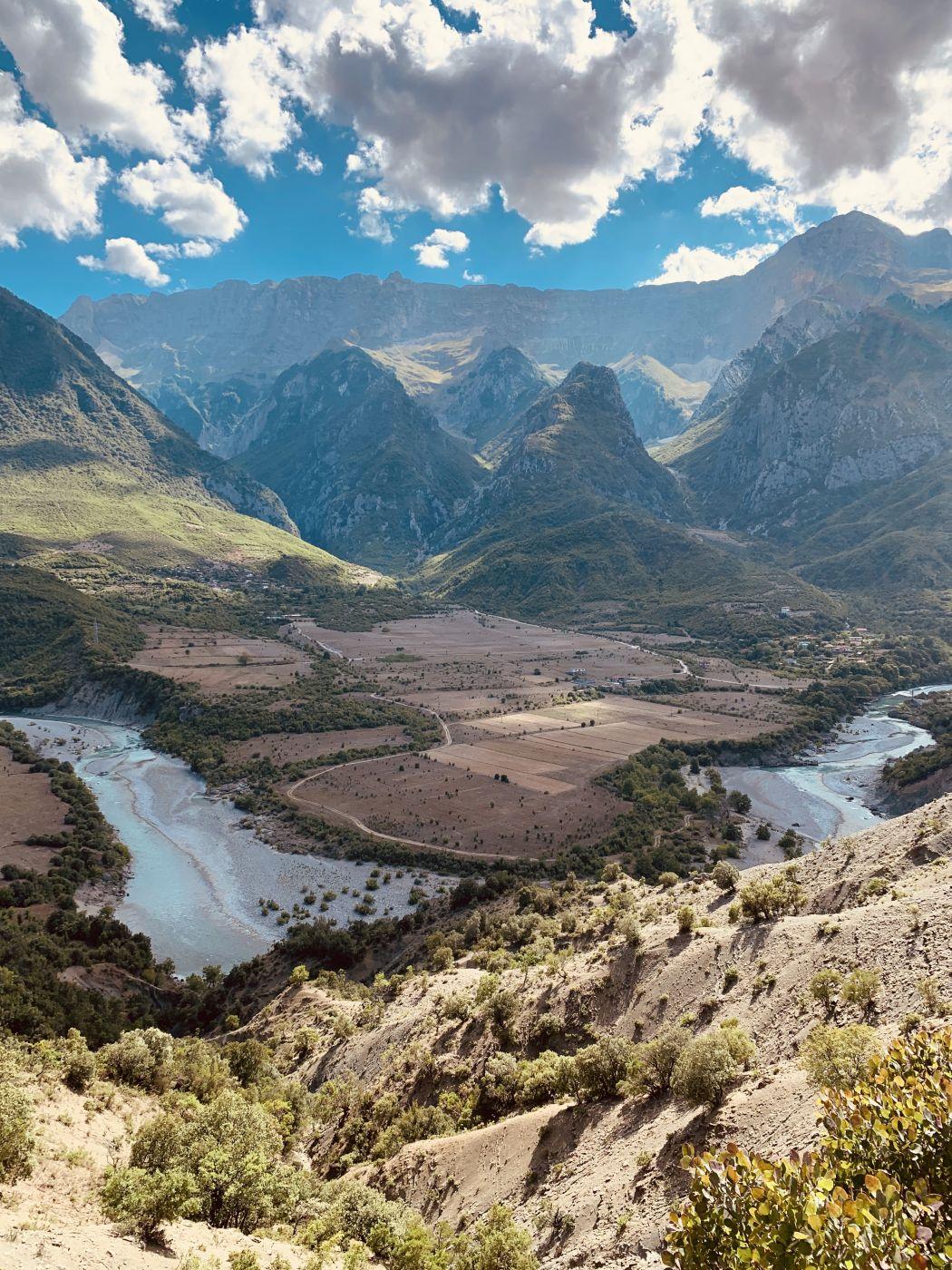 Vjosë river bend, Albania