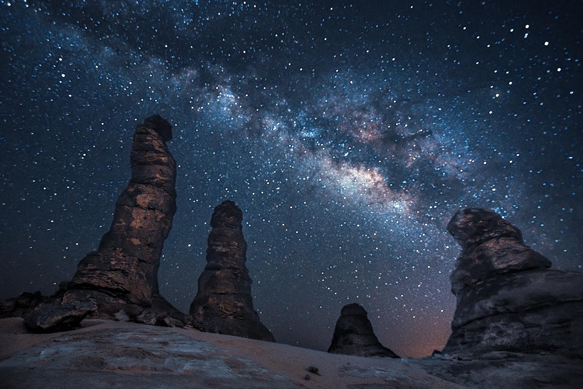 Al Gramil Mountains Alula, Saudi Arabia