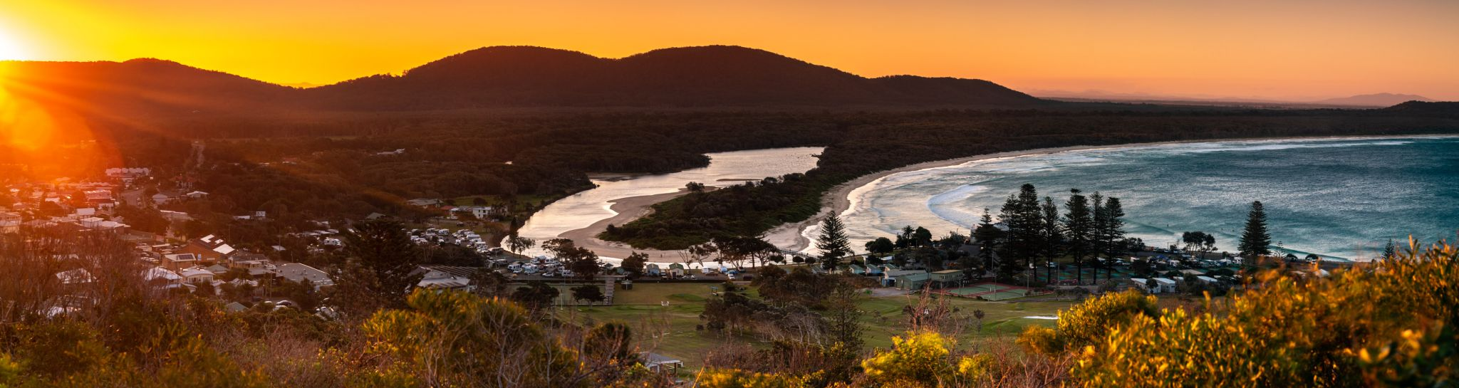 Crescent Head Pano sunset New South Wales, Australia