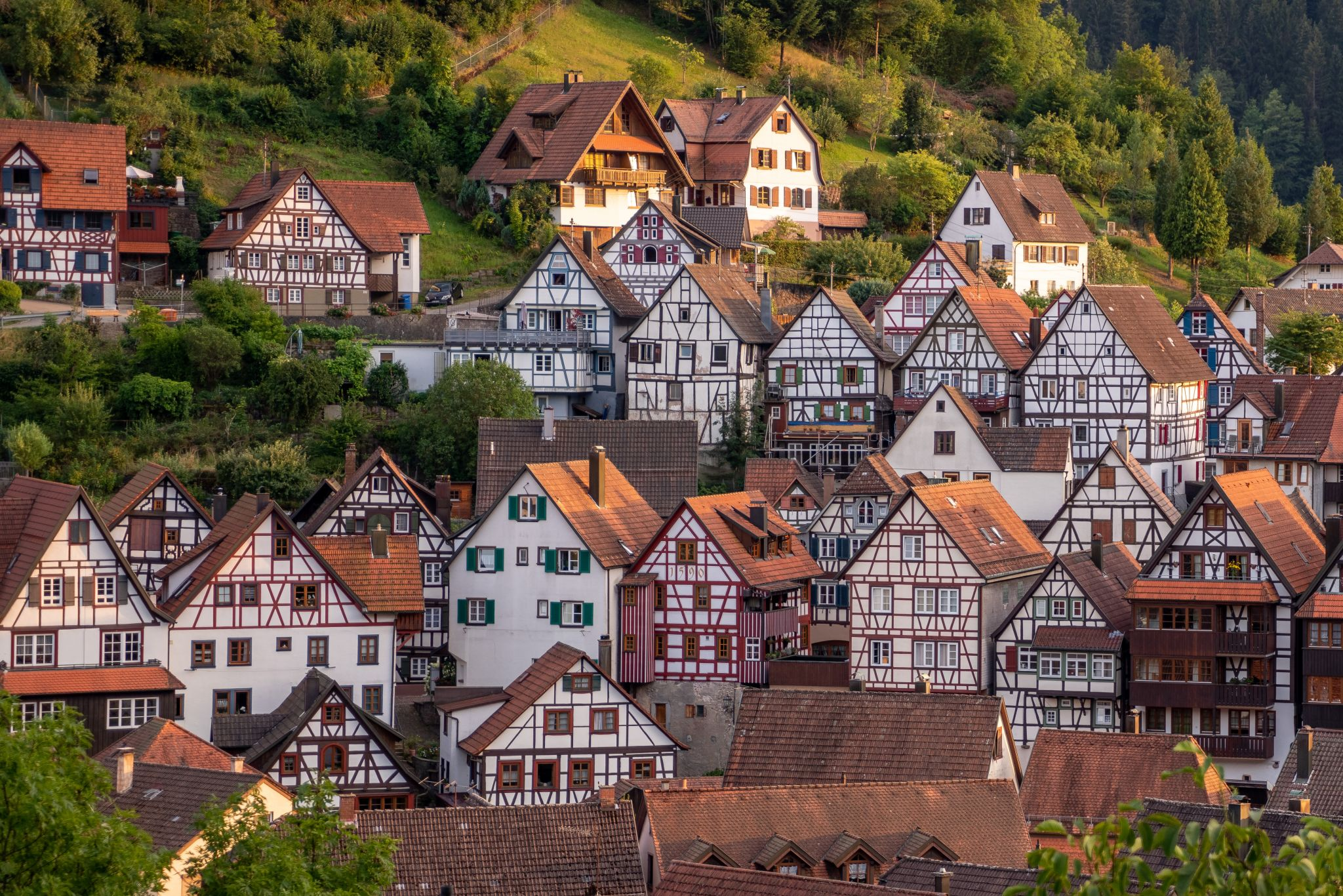 Half Timbered Houses in Schiltach, Germany
