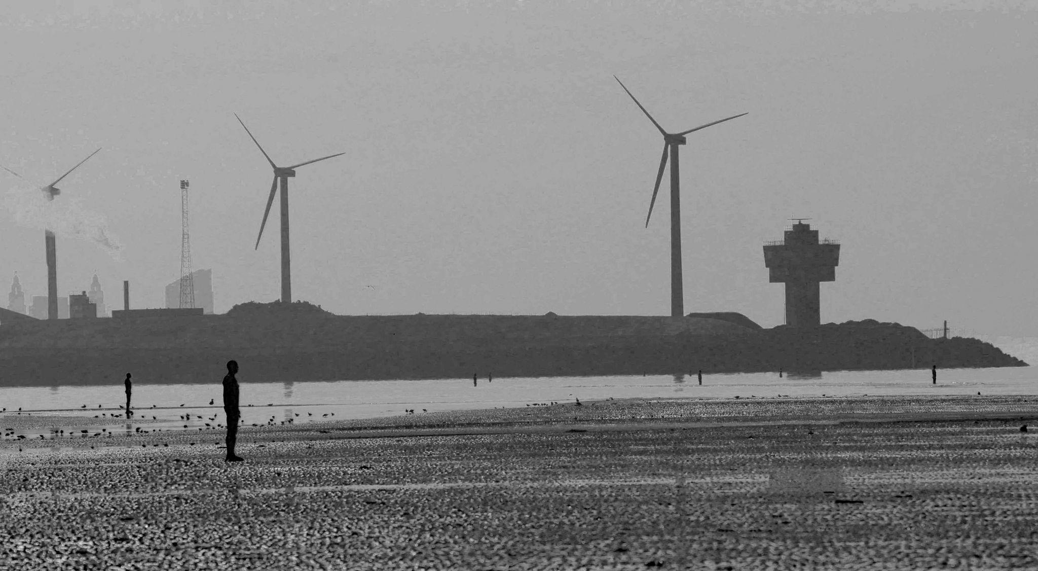 Iron men and Seaforth docks, United Kingdom