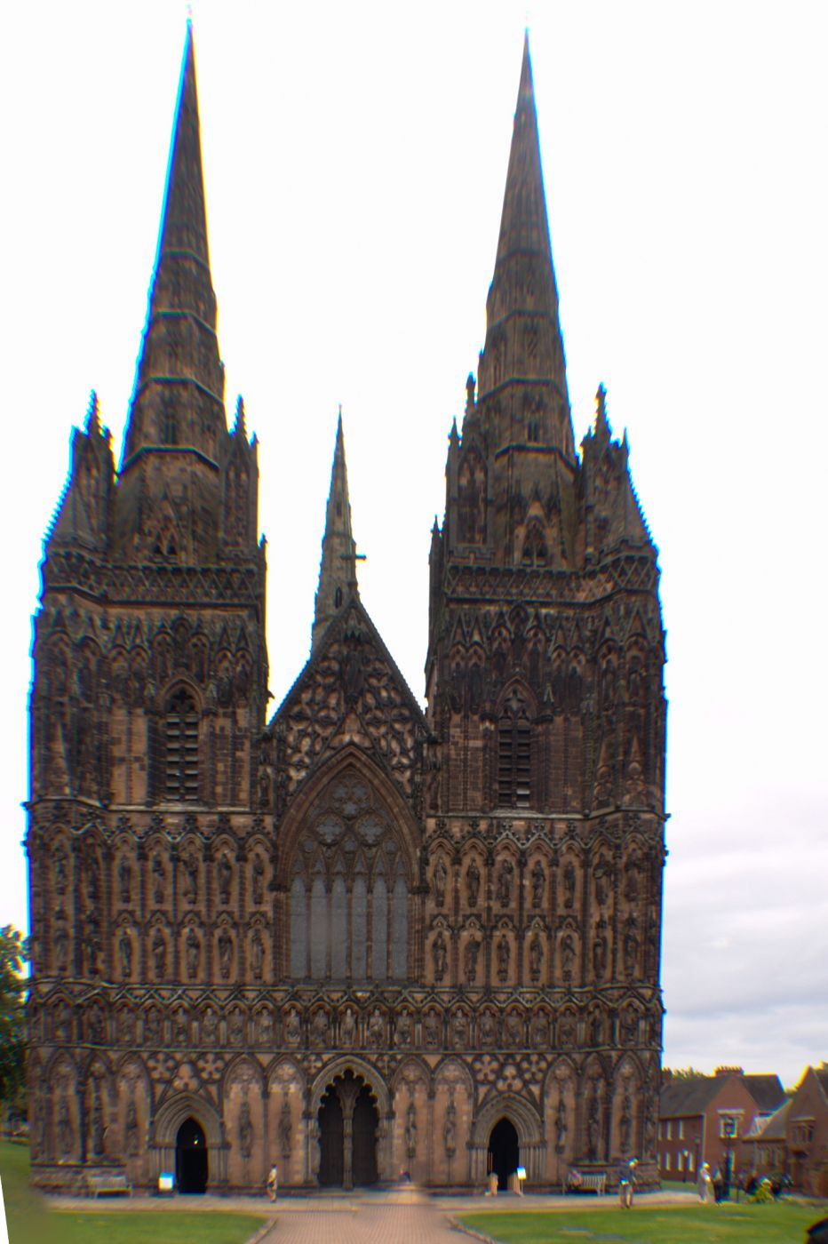 Lichfield Cathedral Front, United Kingdom