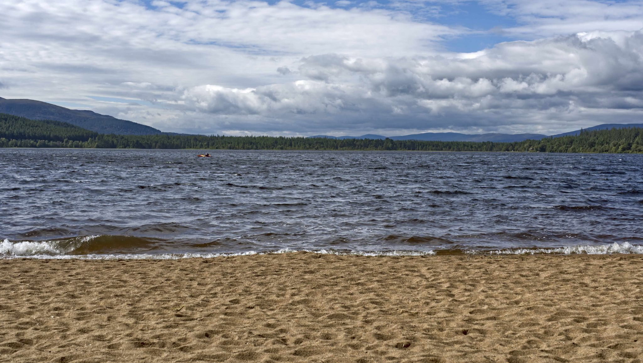 Loch Morlich from the beach, United Kingdom