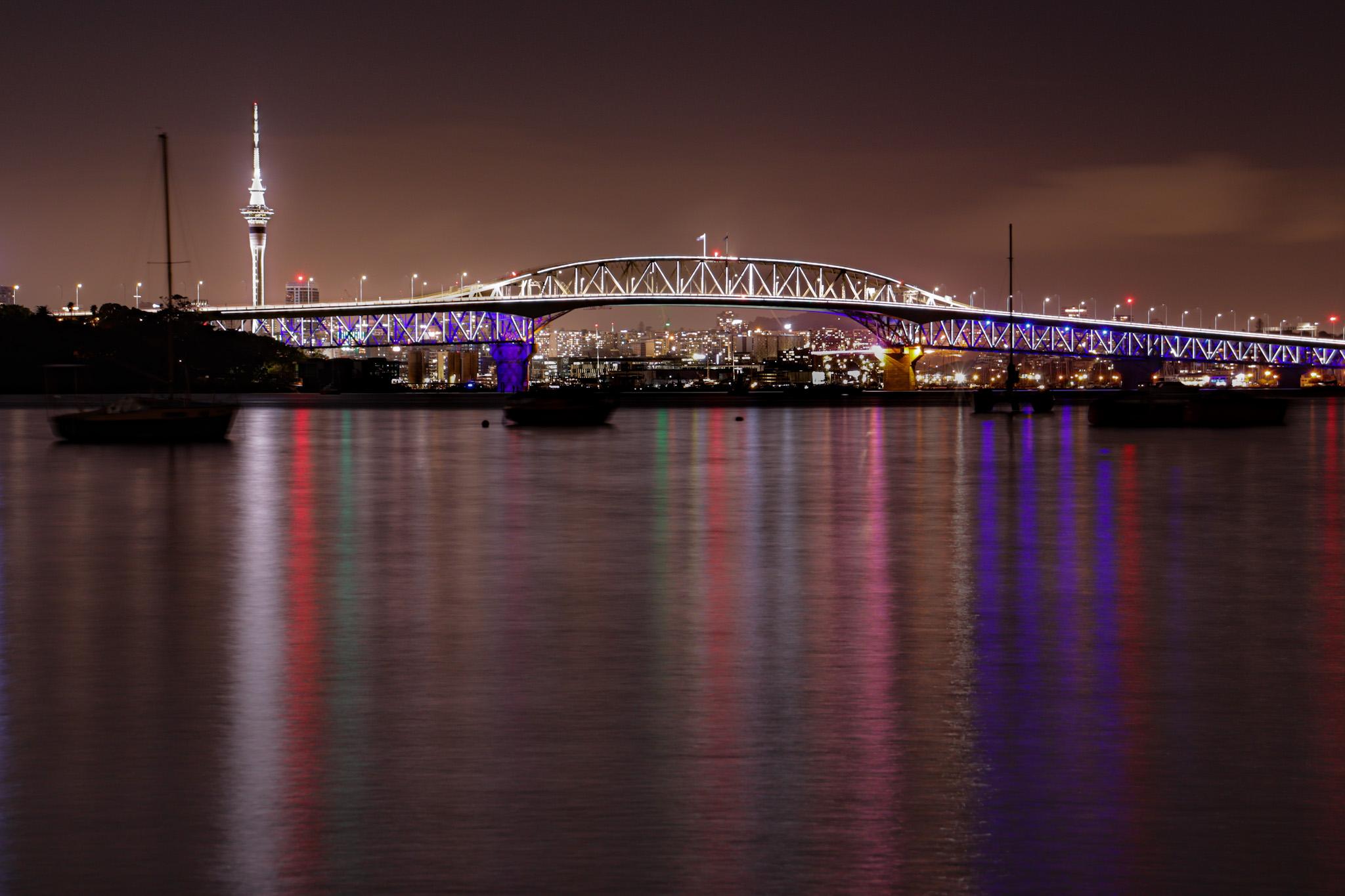 Auckland Bridge and Skycity Tower, New Zealand