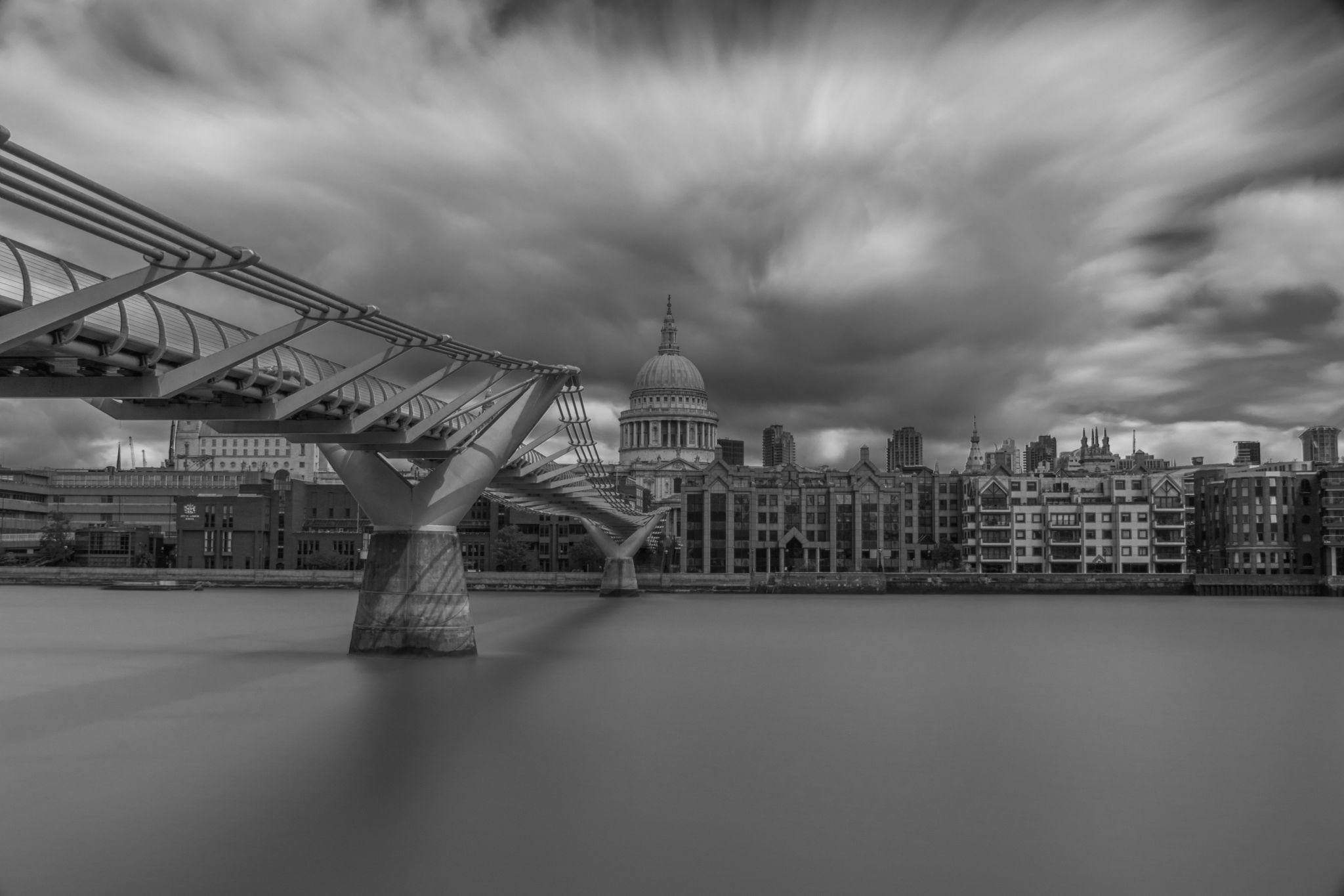 Millennium Bridge and St Paul's, United Kingdom