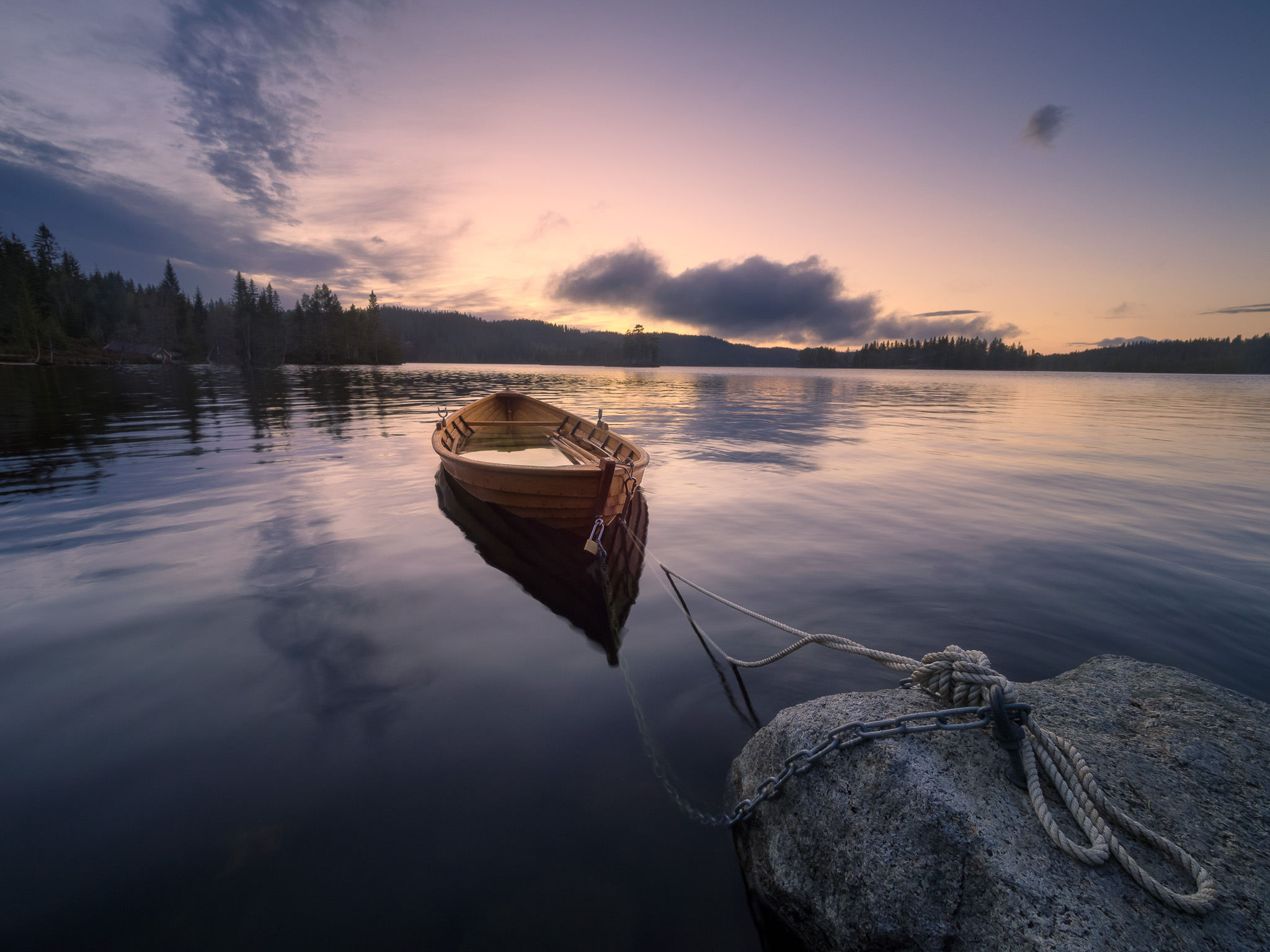 Øyangen lake, Ringerike, Norway, Norway