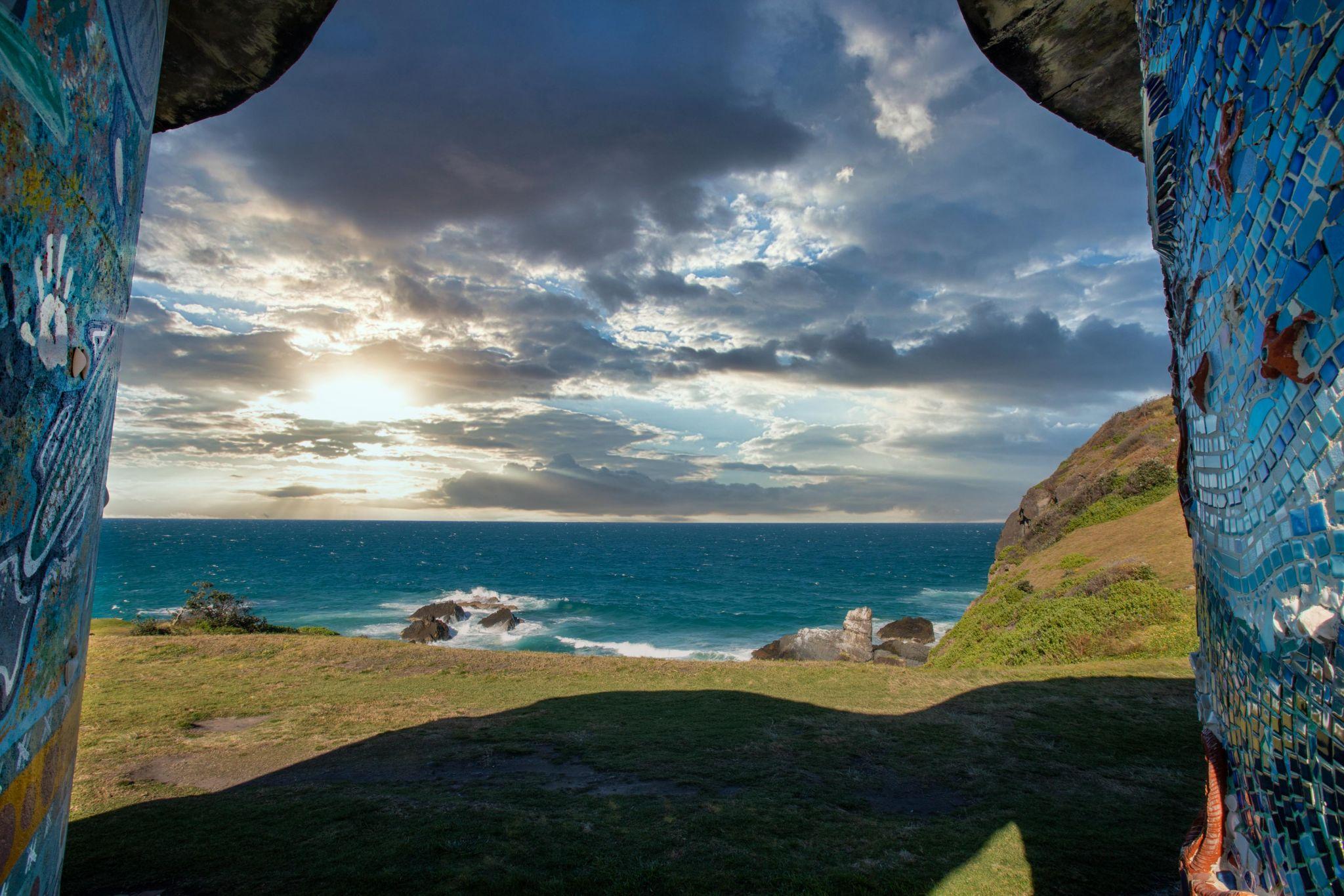 Pebbly Beach between the water tanks Crescent Head, Australia