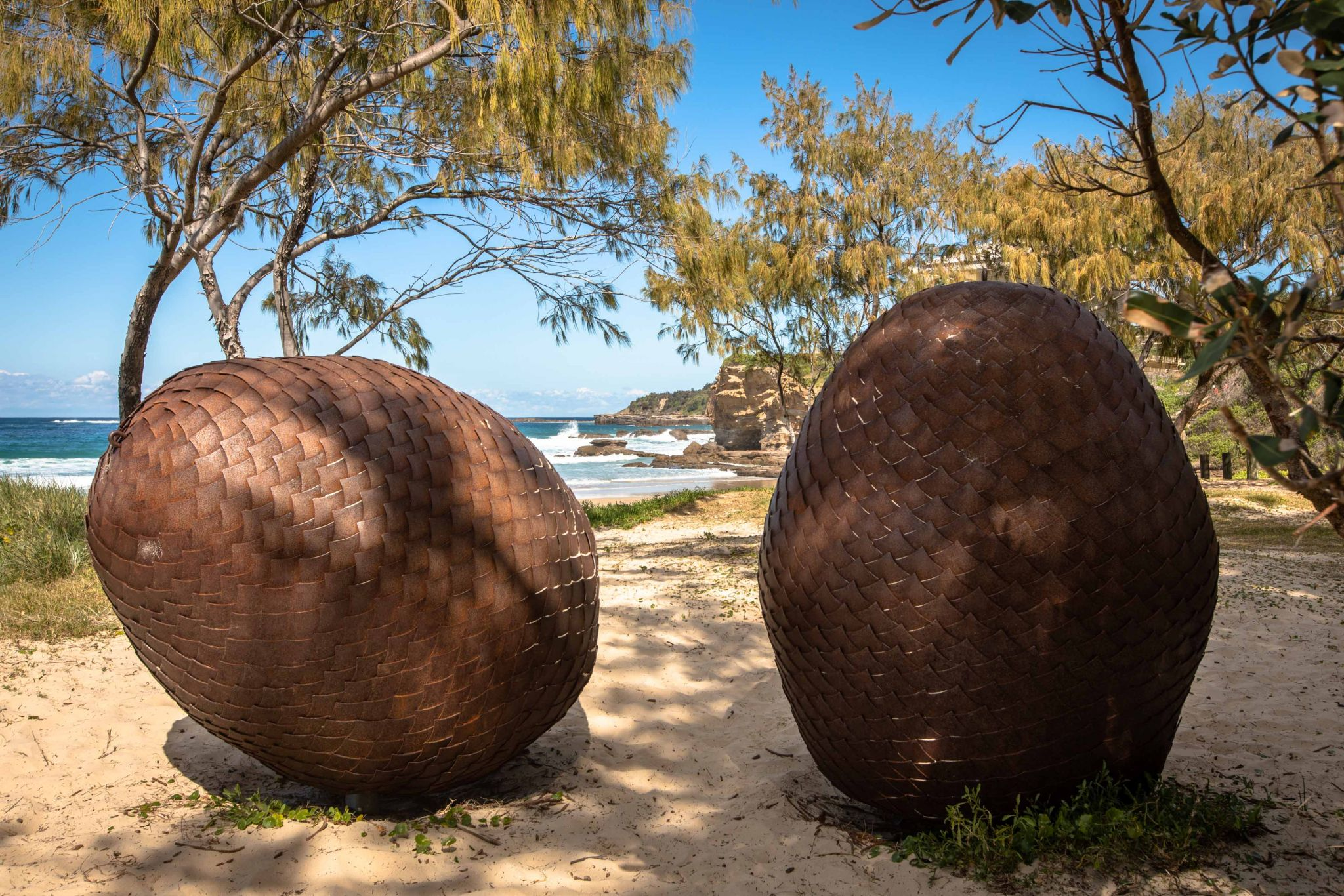 Sculptures on the Beach Caves Beach New South Wales, Australia