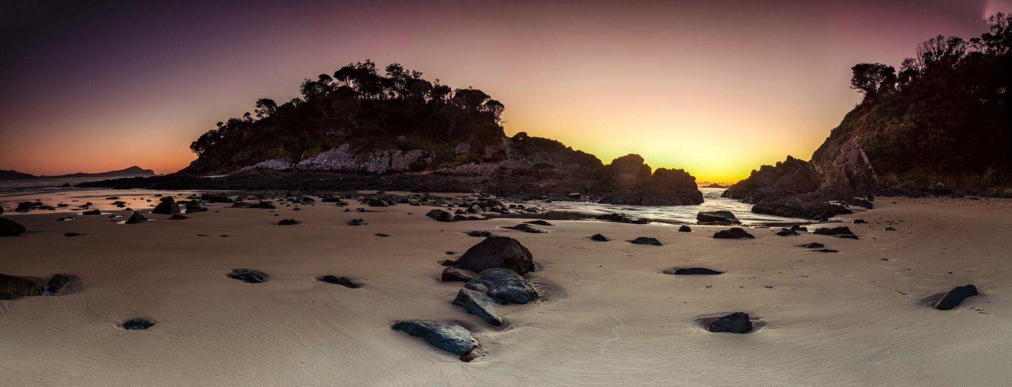 Seal Rocks headland Number one beach New South Wales, Australia