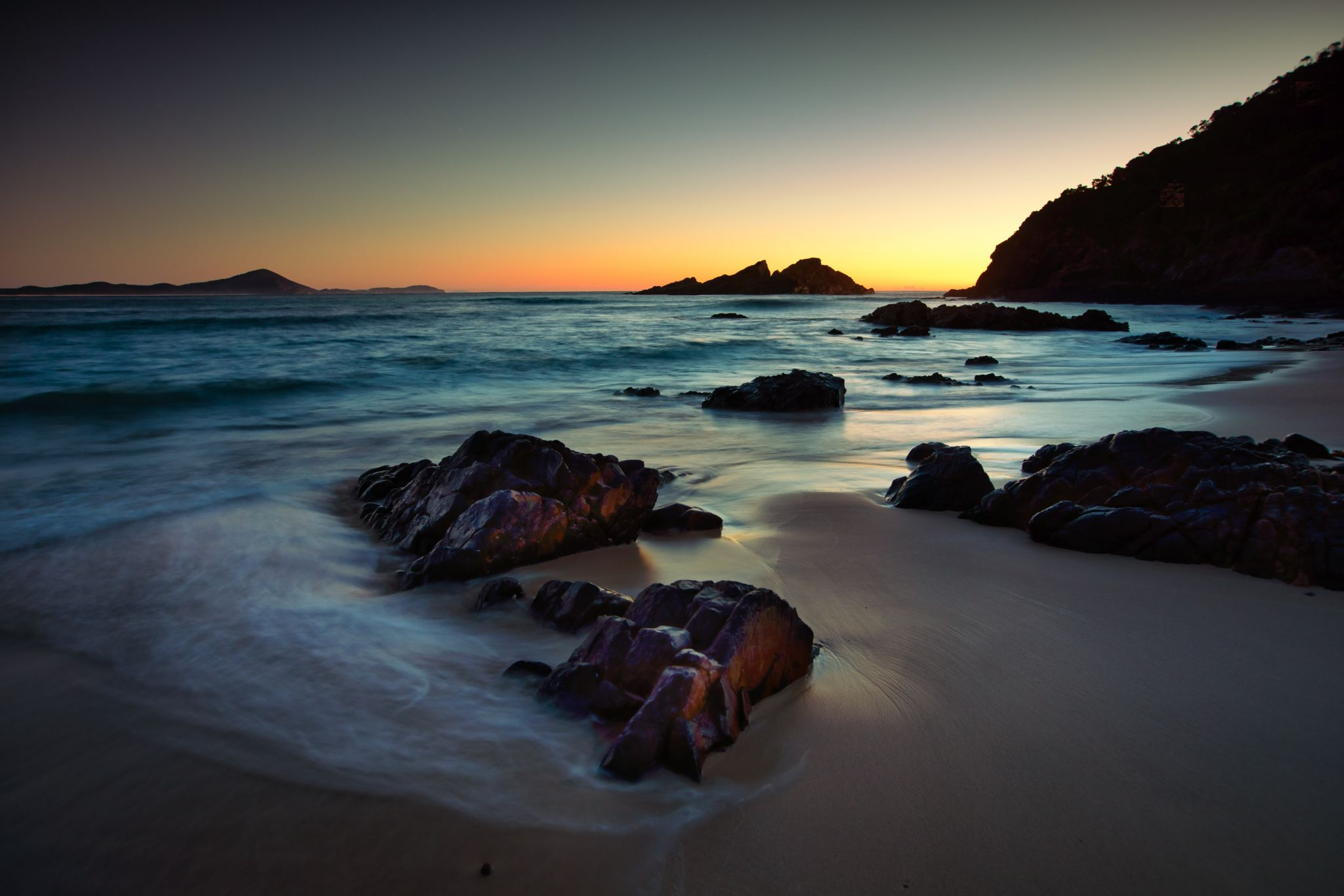 Seal Rocks Sunrise Sugarloaf Bay New South Wales, Australia