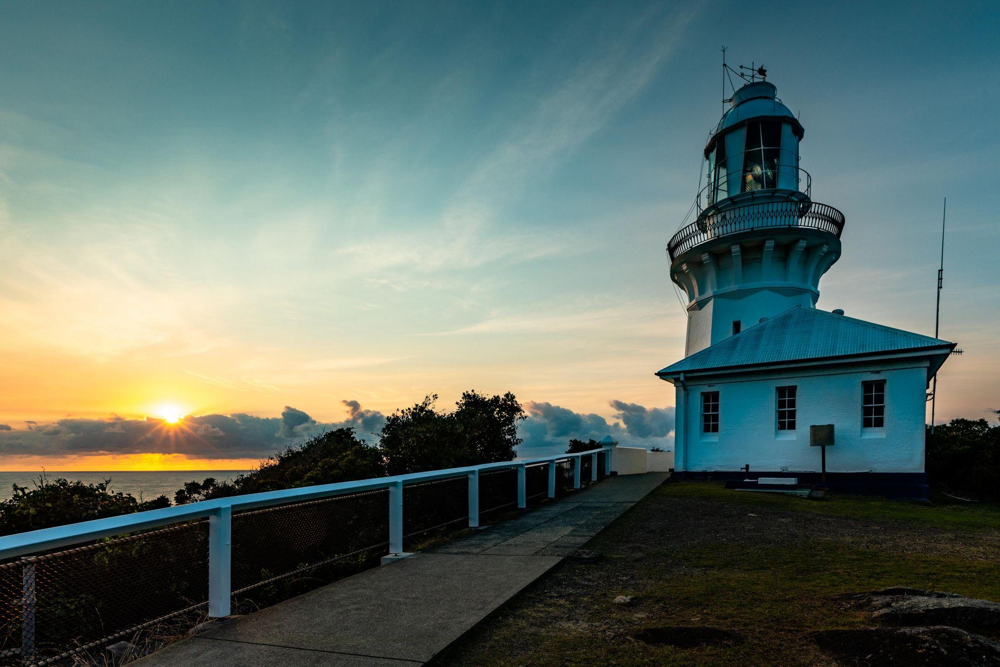 Smokey Cape Lighthouse sunrise South West Rocks NSW, Australia