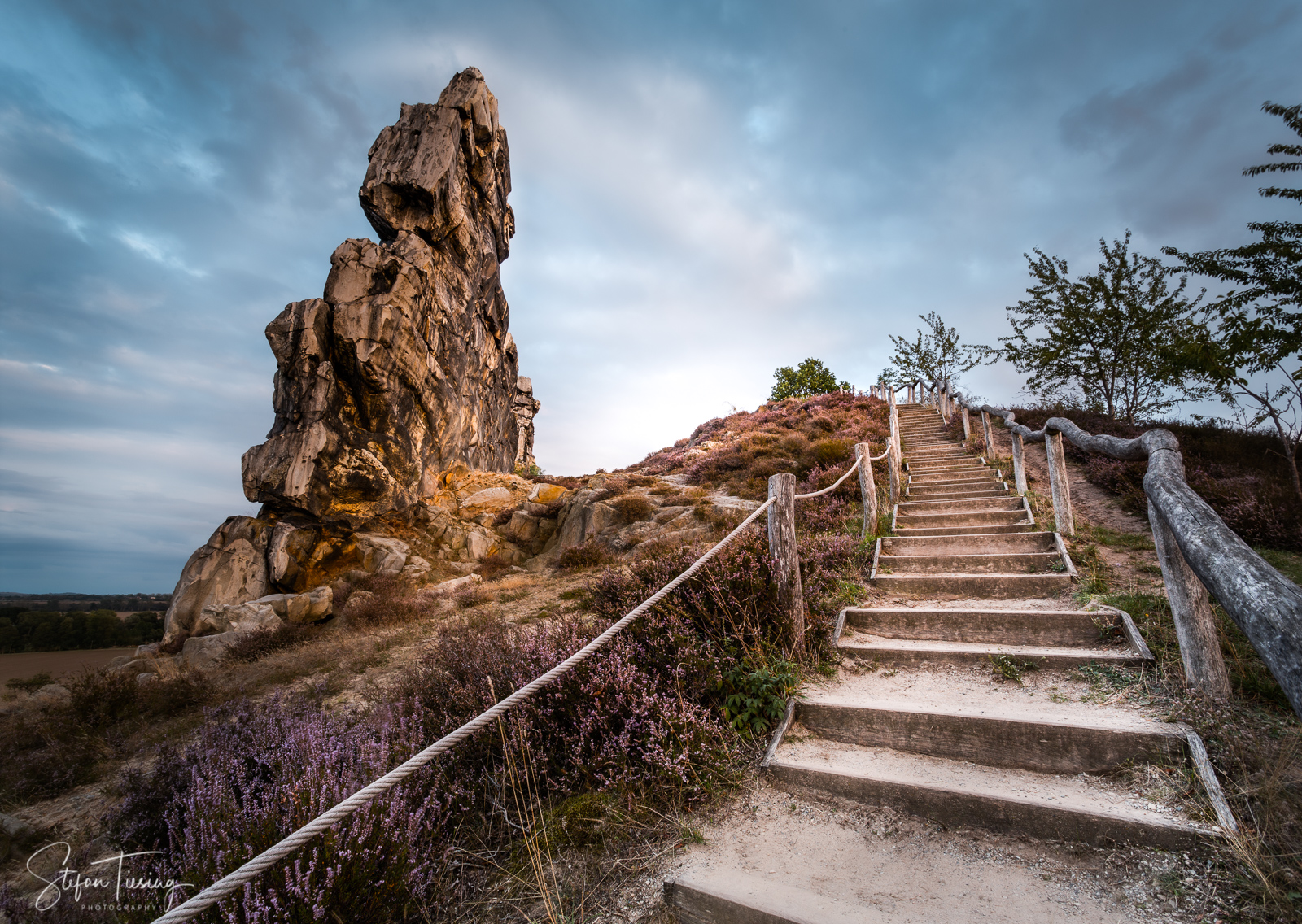 Steps to the Devil - Teufelsmauer near Thale, Germany