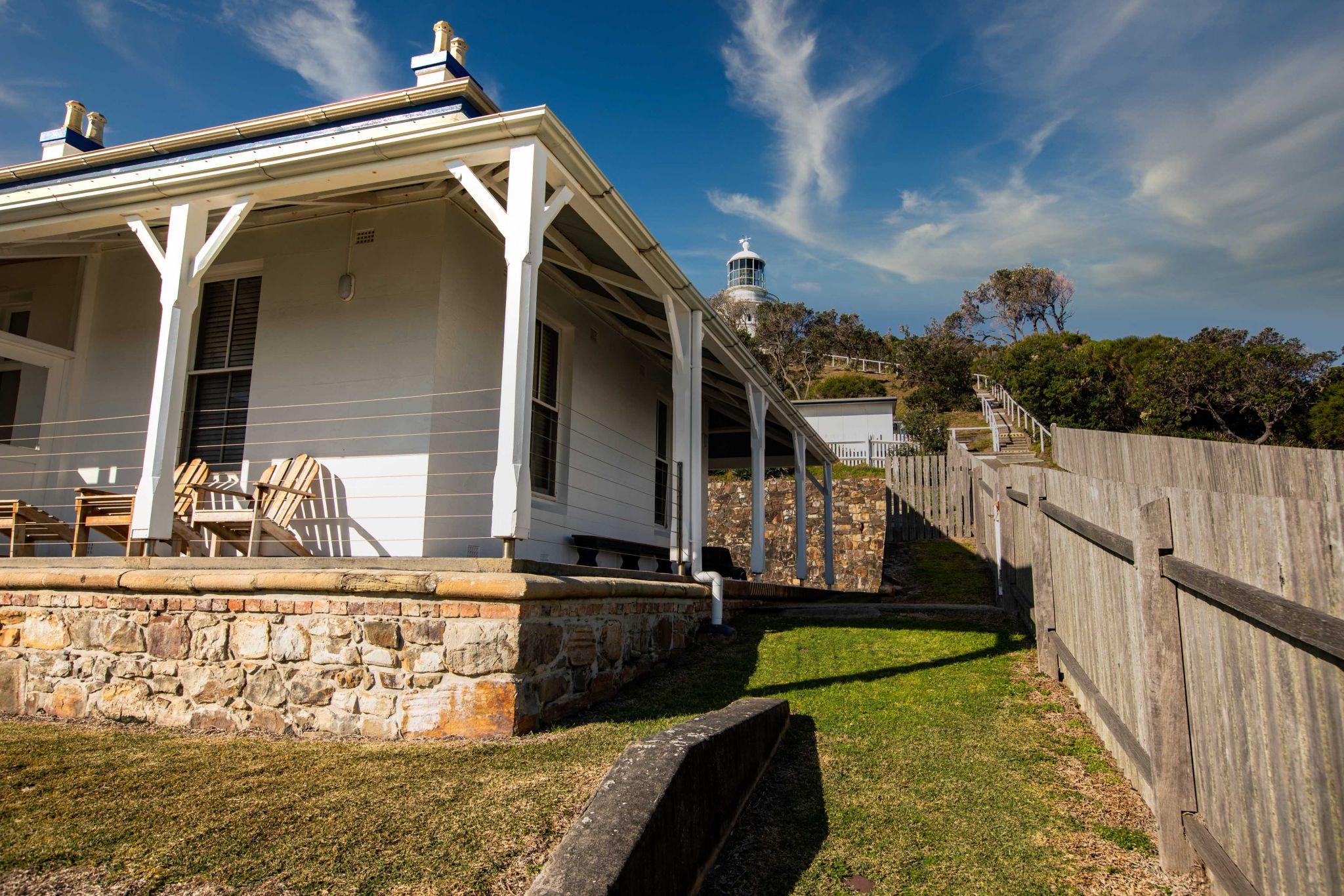 Sugarloaf Lighthouse caretakers cottage Seal Rocks NSW, Australia