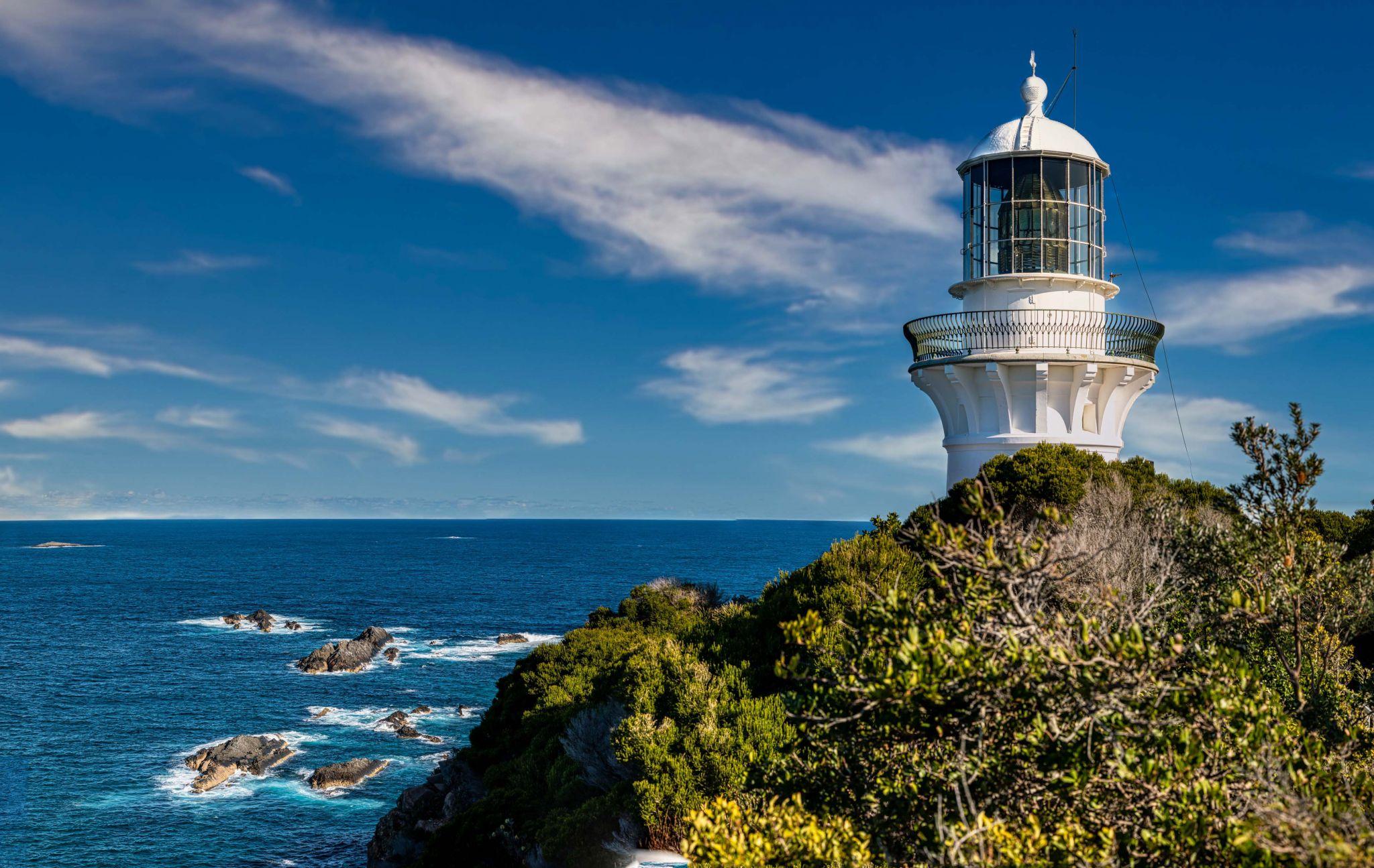 Sugarloaf Lighthouse Seal Rocks New South Wales, Australia