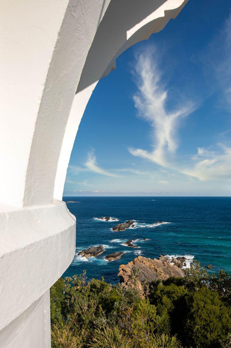 Sugarloaf Point Lighthouse rocks Seal Rocks NSW, Australia