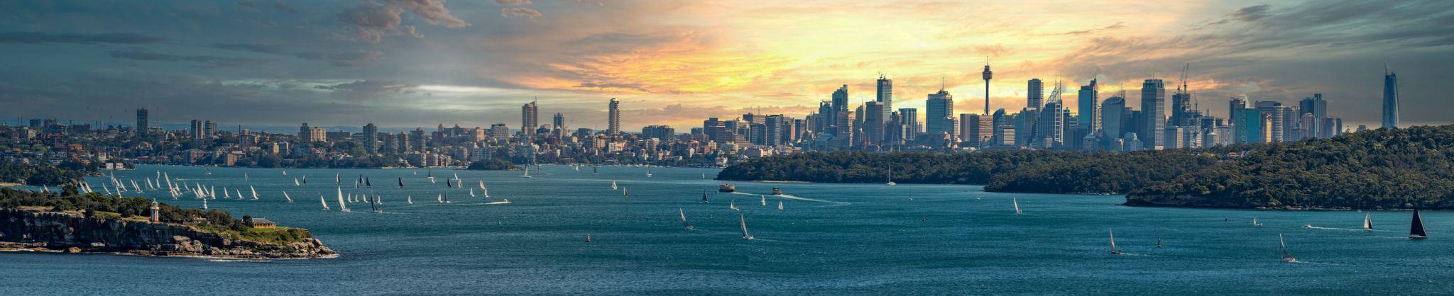 Sydney sunset, North Head New South Wales, Australia