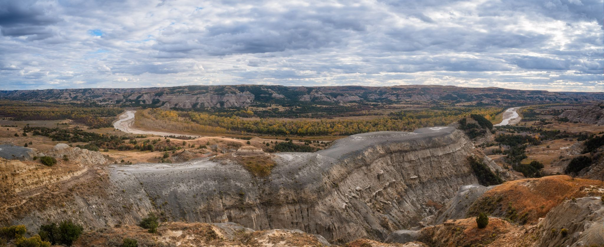 Theodore Roosevelt National Park - River Bend Overlook, USA