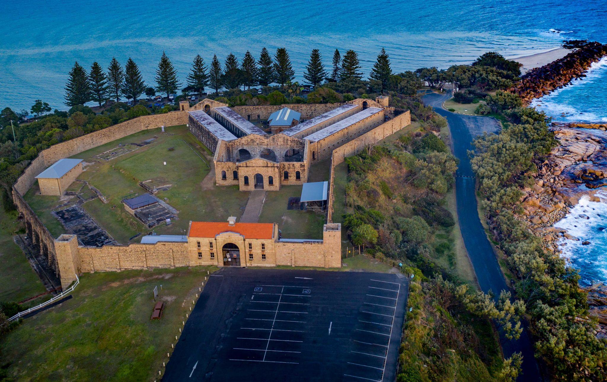 Trial Bay Gaol Drone South West Rocks New South Wales, Australia