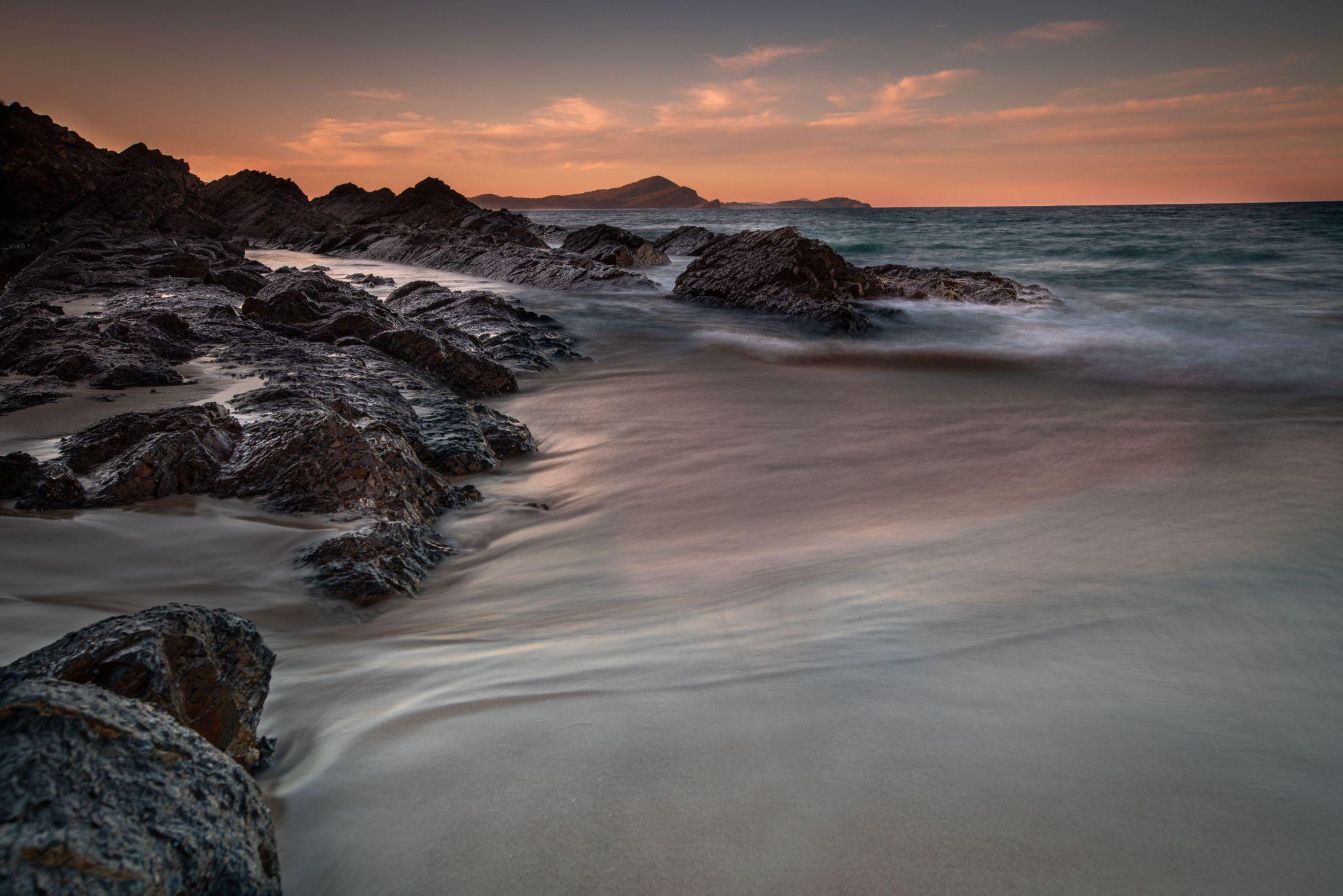 Boat Beach sunrise Seal Rocks New South Wales, Australia